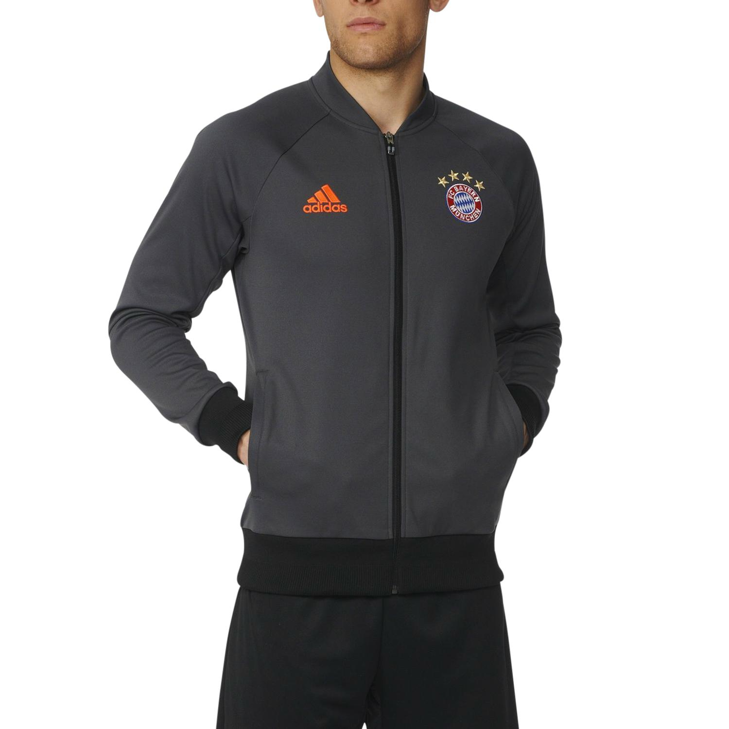 adidas fc bayern m nchen anthem jacke trainingsjacke. Black Bedroom Furniture Sets. Home Design Ideas