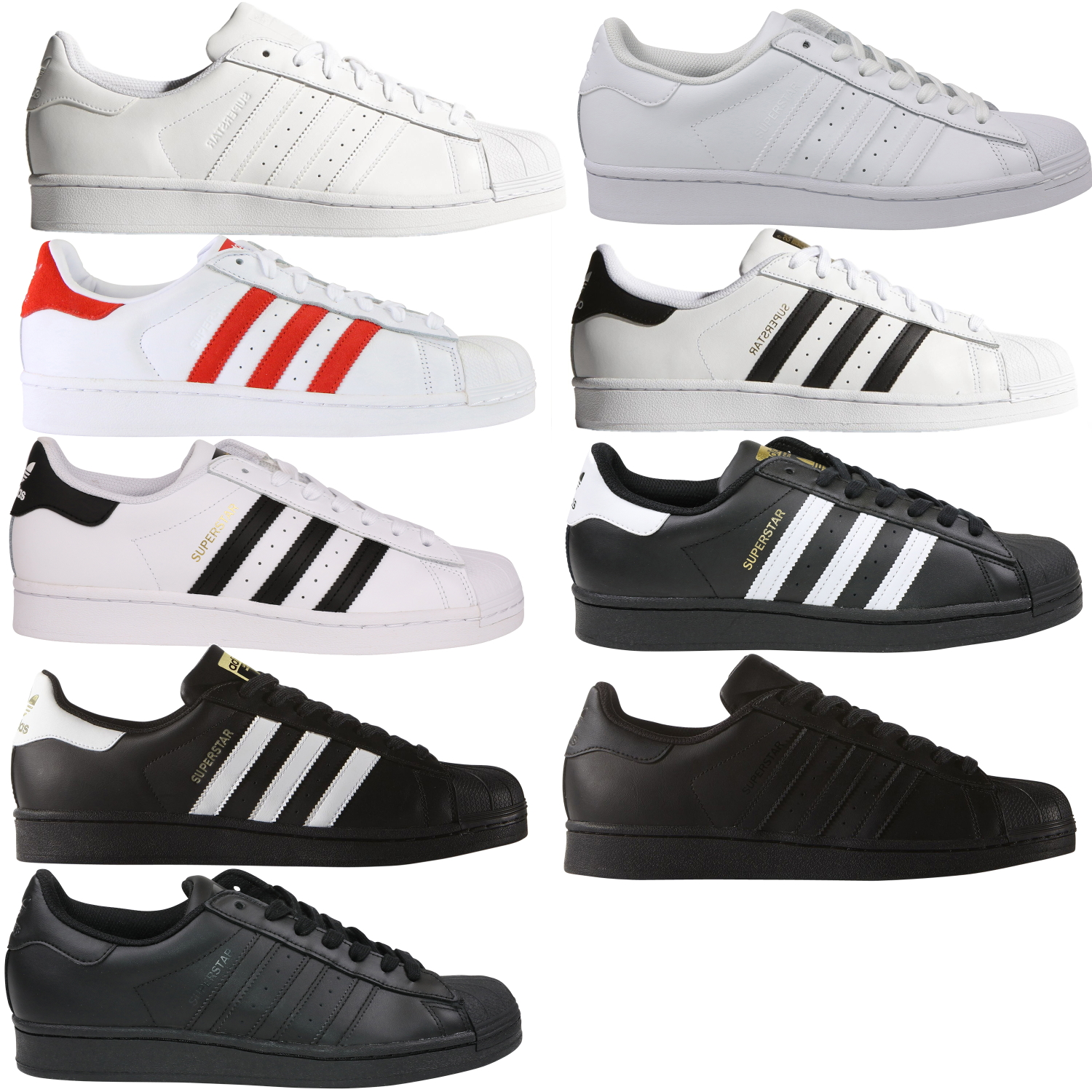 adidas superstars in allen farben wj. Black Bedroom Furniture Sets. Home Design Ideas