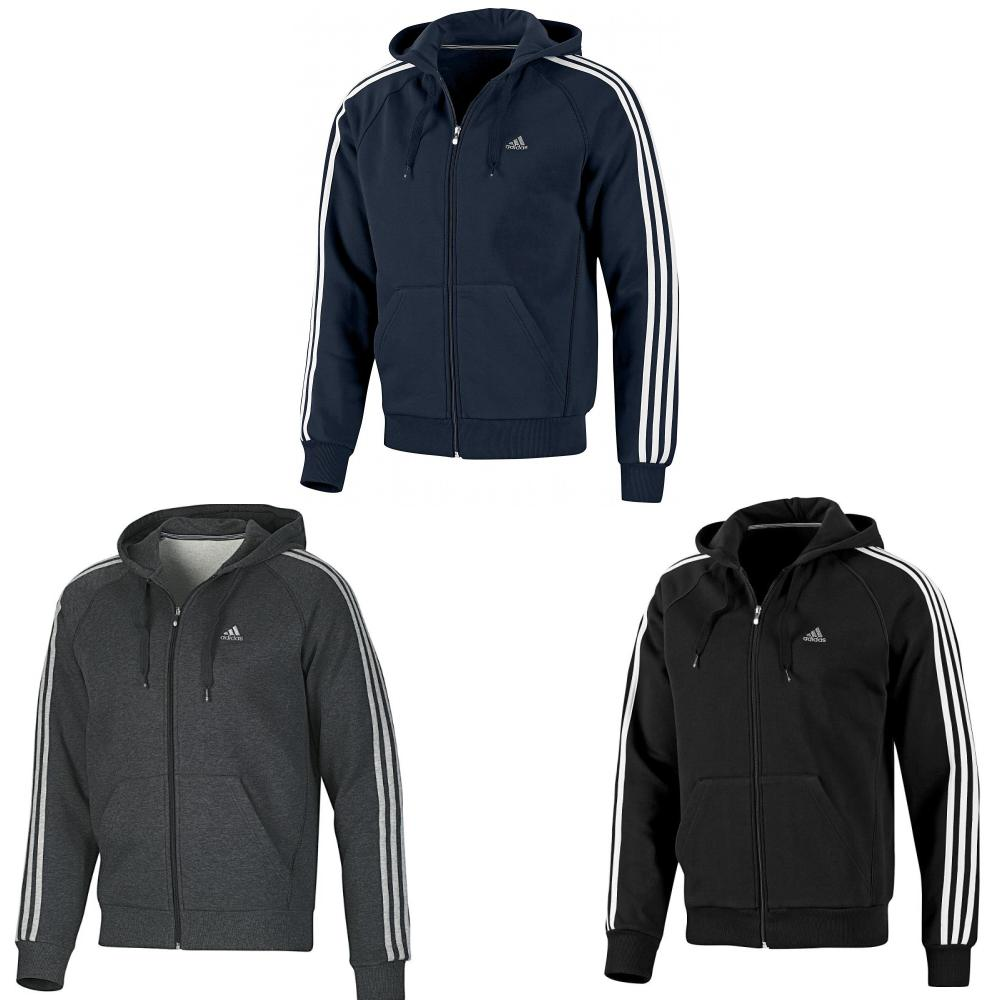 adidas ess 3s fz hood jacke herren sweatjacke. Black Bedroom Furniture Sets. Home Design Ideas