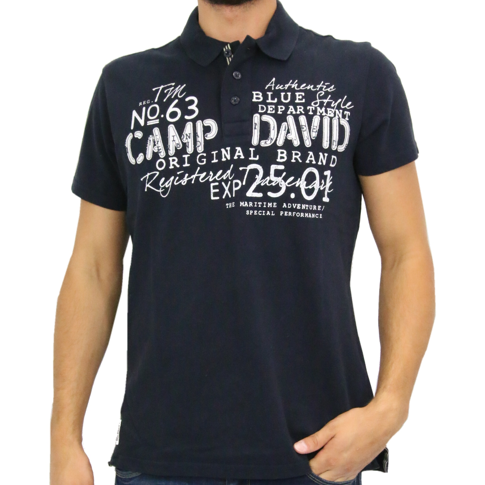 camp david poloshirt polohemd t shirt kurzarm herren blau ccu 5555 3187 ds ebay. Black Bedroom Furniture Sets. Home Design Ideas