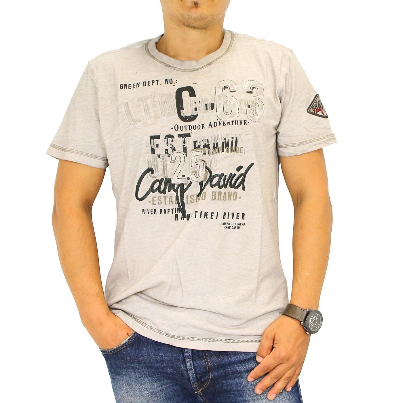 camp david river rafting cd 1 2 t shirt kurzarm herren beige shirt m l ebay. Black Bedroom Furniture Sets. Home Design Ideas