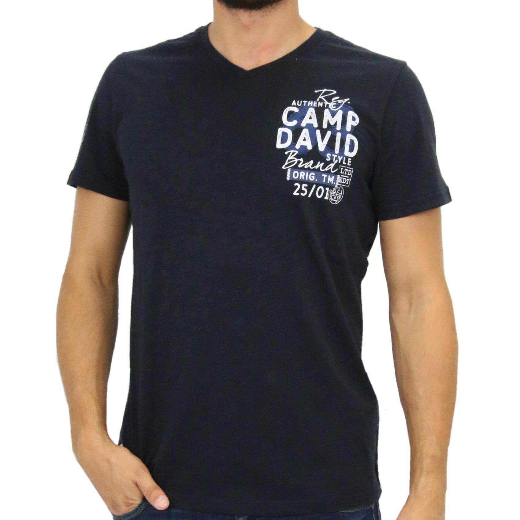 camp david t shirt v neck shirt kurzarm herren dunkelblau ccu 5555 3186 ds ebay. Black Bedroom Furniture Sets. Home Design Ideas