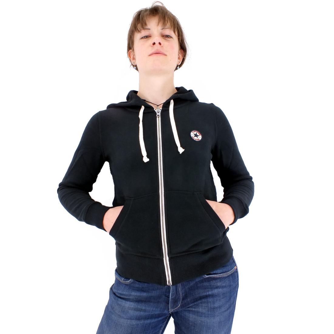 converse core chk patch fz hoodie jacke kapuzenjacke damen rot grau blau schwarz ebay. Black Bedroom Furniture Sets. Home Design Ideas
