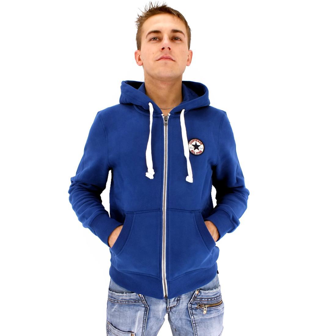 converse of core c patch fz hoodie jacke kapuzenjacke herren grau schwarz blau ebay