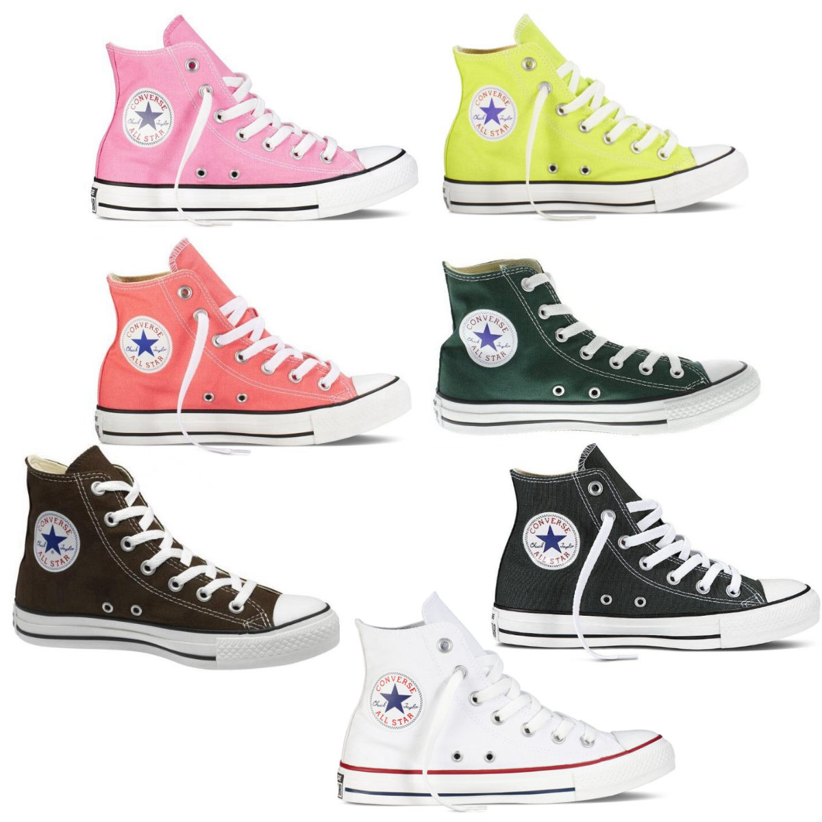converse chucks all star hi schuhe sneaker canvas high top damen herren ebay. Black Bedroom Furniture Sets. Home Design Ideas
