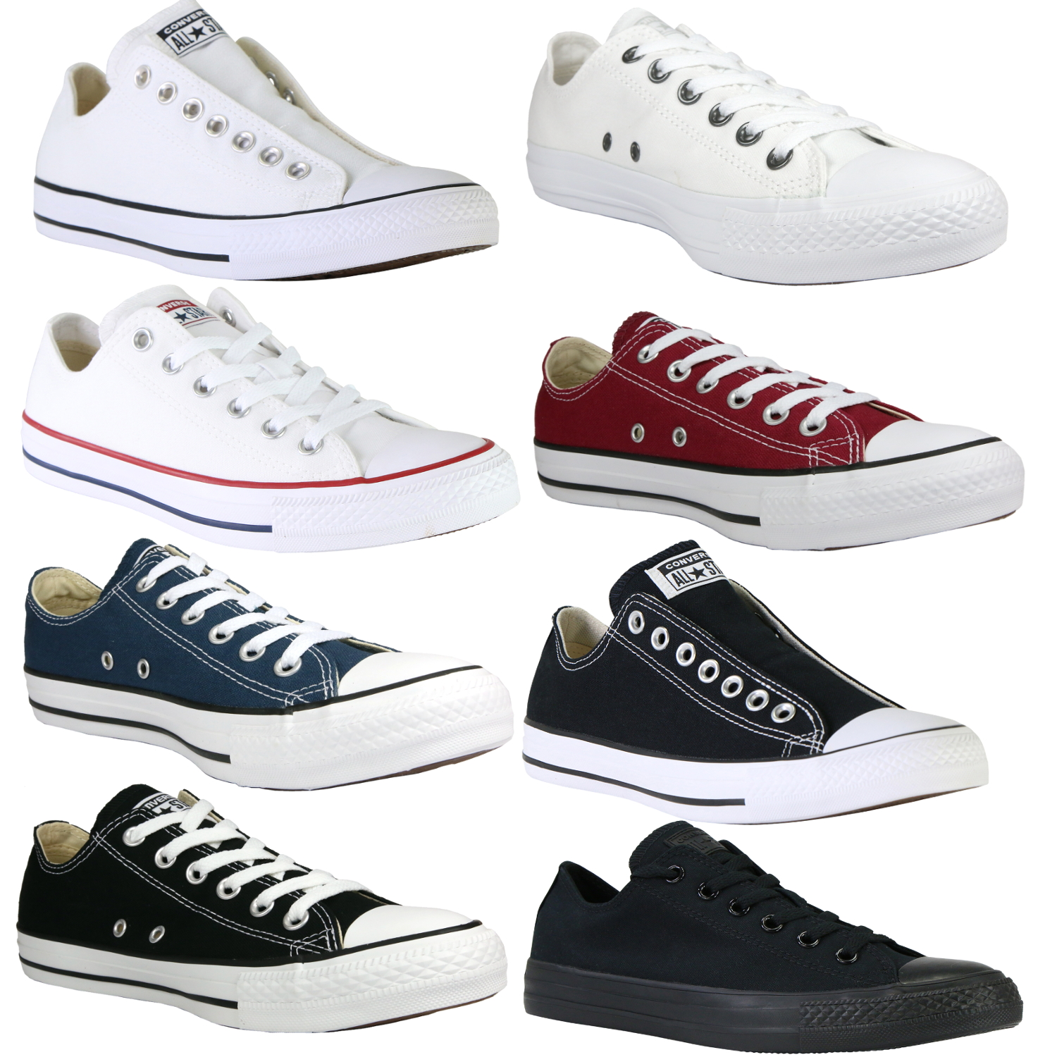 Converse-Chucks-All-Star-OX-Canvas-Schuhe-Sneaker-diverse-Farben