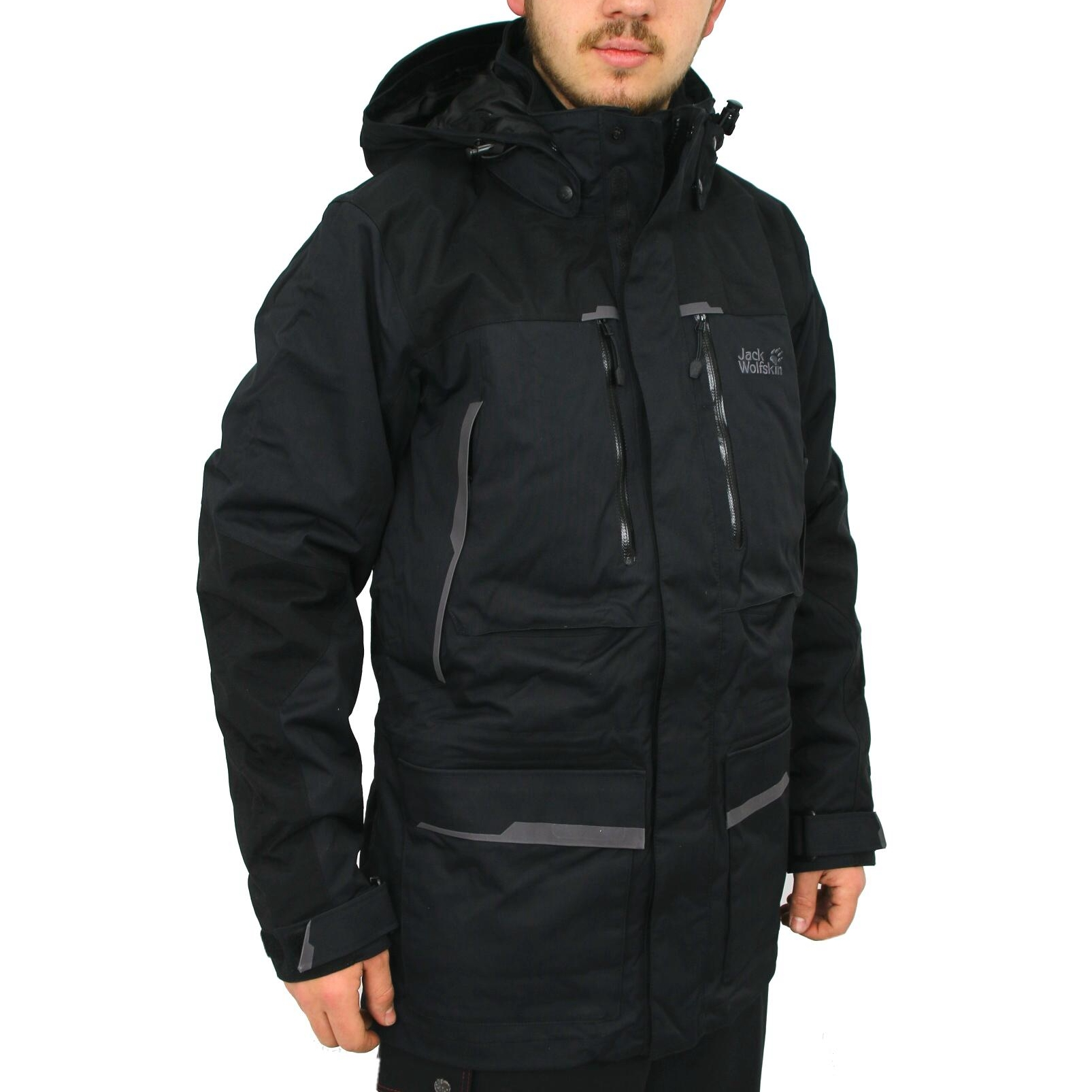 jack wolfskin icebound parka jacket winter parka men ebay. Black Bedroom Furniture Sets. Home Design Ideas