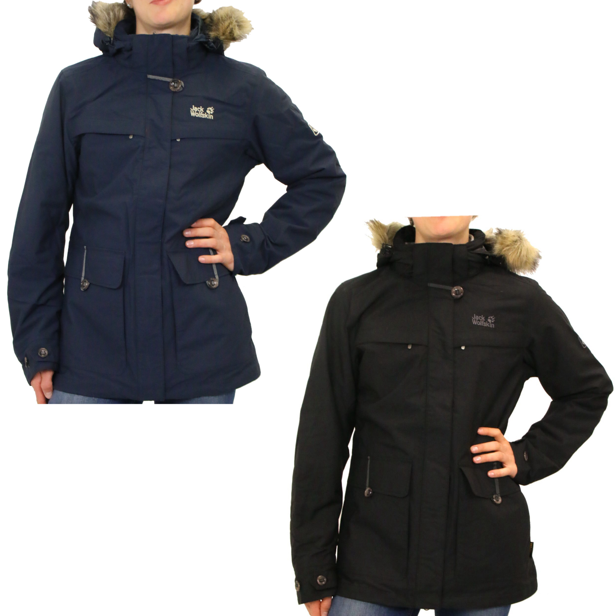 jack wolfskin corner brook 3 in 1 jacke parka doppeljacke. Black Bedroom Furniture Sets. Home Design Ideas
