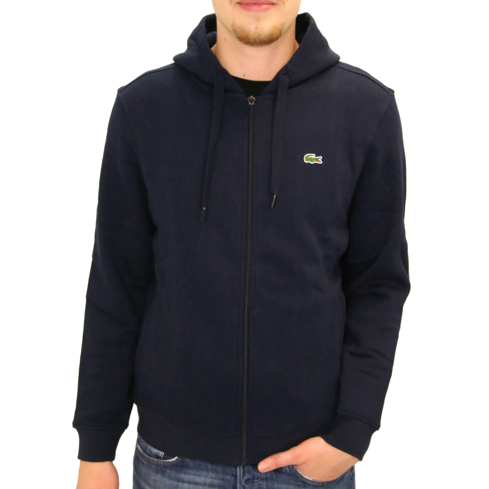 lacoste sport hooded zippered sweatshirt hoodie jacket men. Black Bedroom Furniture Sets. Home Design Ideas