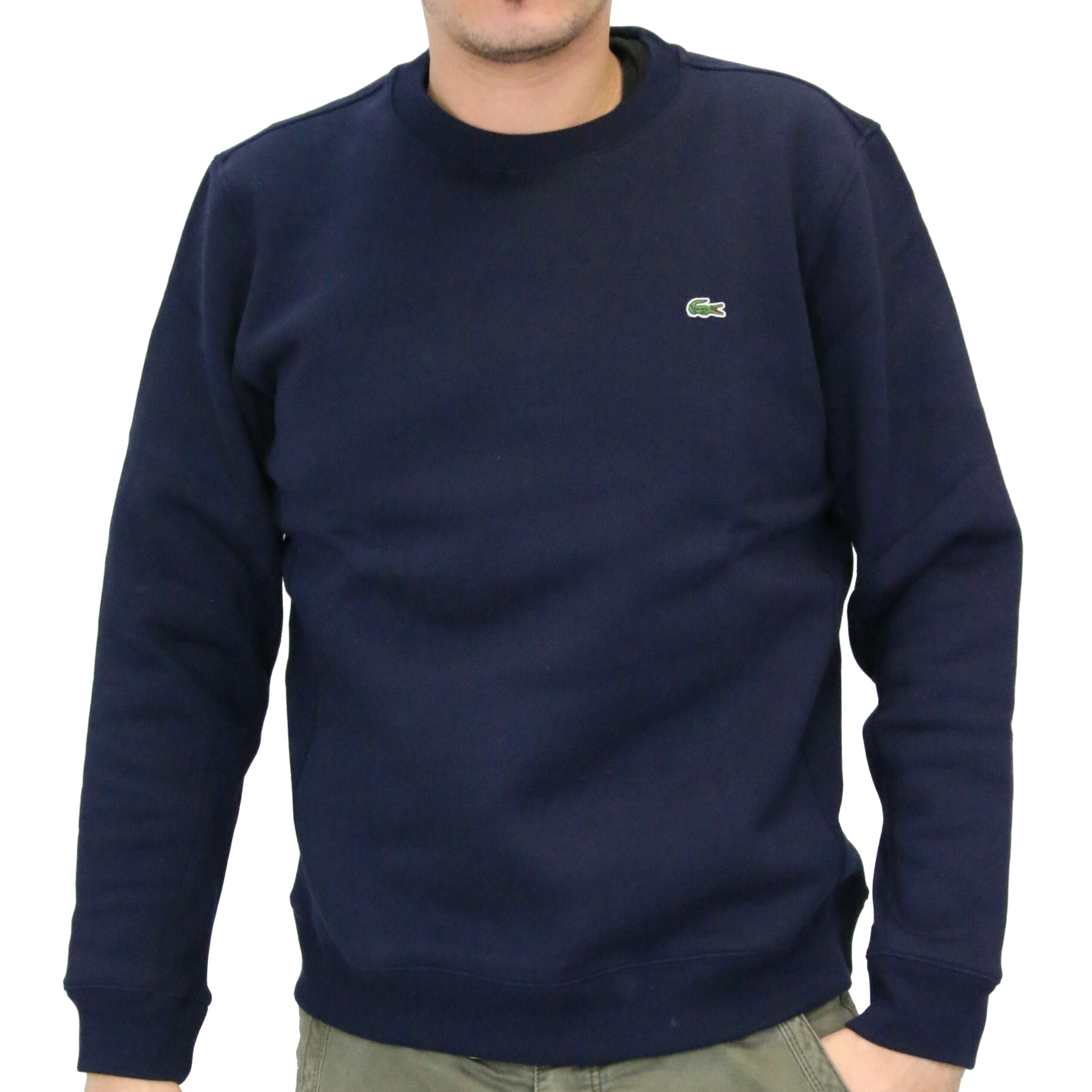 lacoste sweatshirt pullover rundhals langarm herren ebay. Black Bedroom Furniture Sets. Home Design Ideas