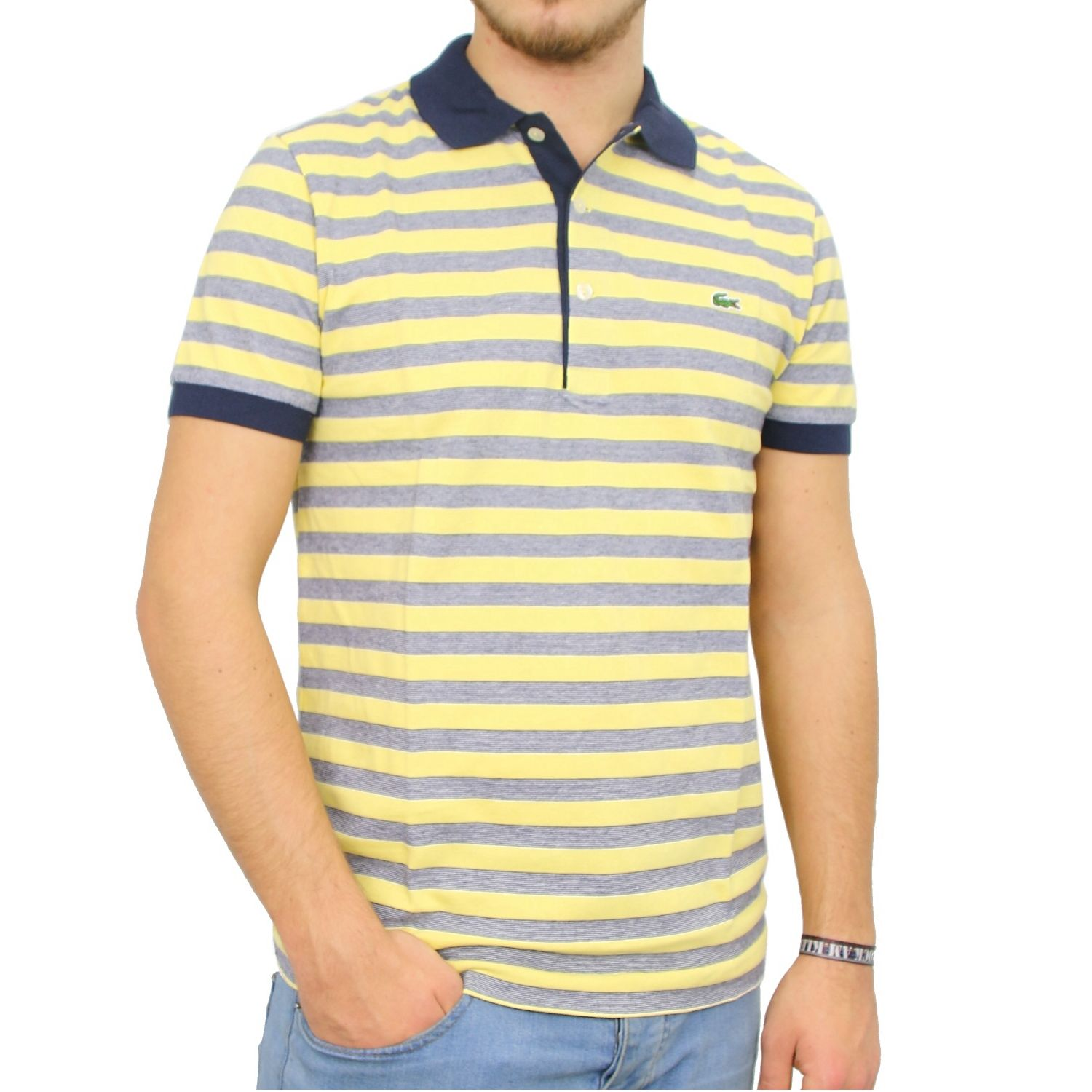 lacoste polo shirt t shirt tee shirt striped men various colours ph8160 ebay. Black Bedroom Furniture Sets. Home Design Ideas