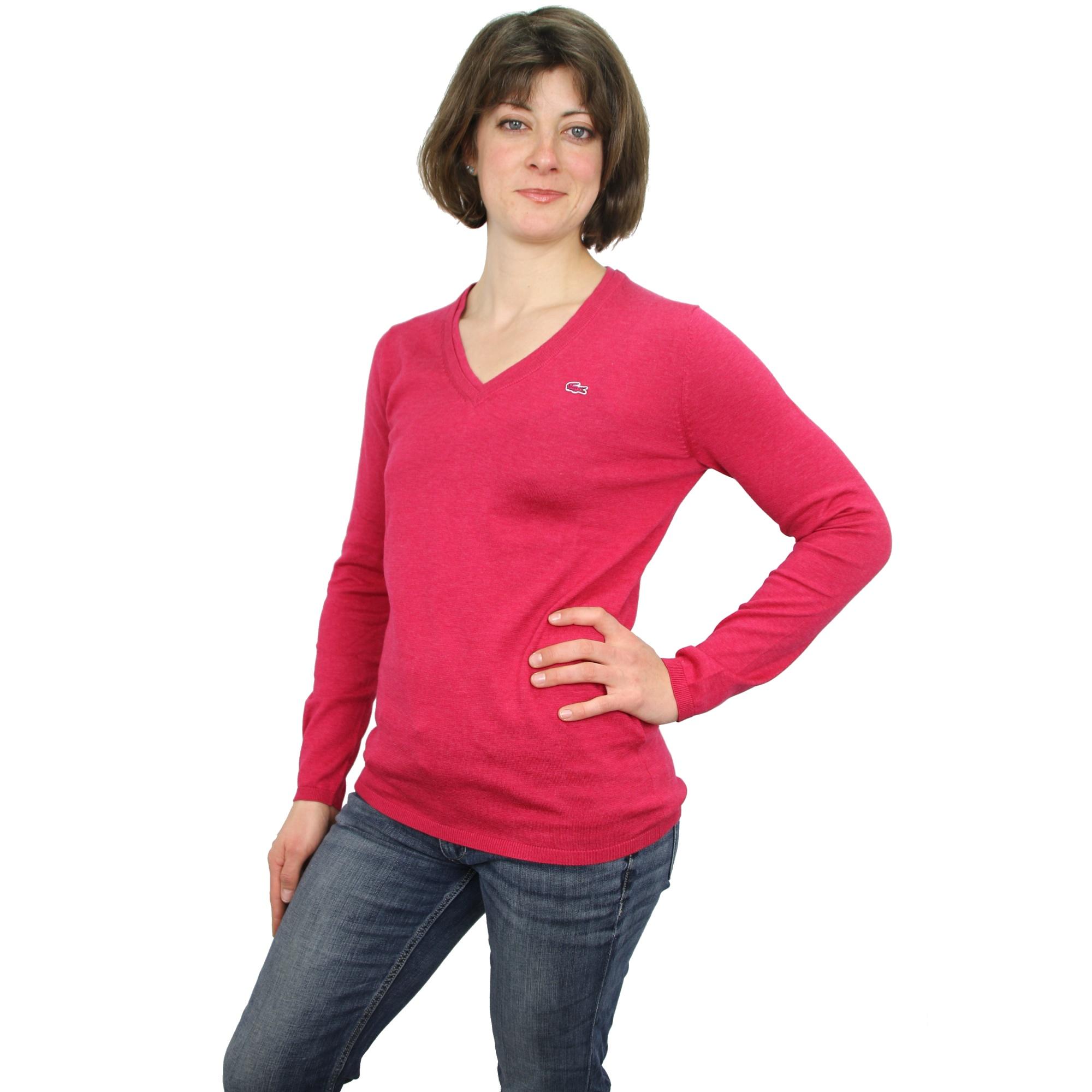 lacoste sweater pull col v femmes ebay. Black Bedroom Furniture Sets. Home Design Ideas