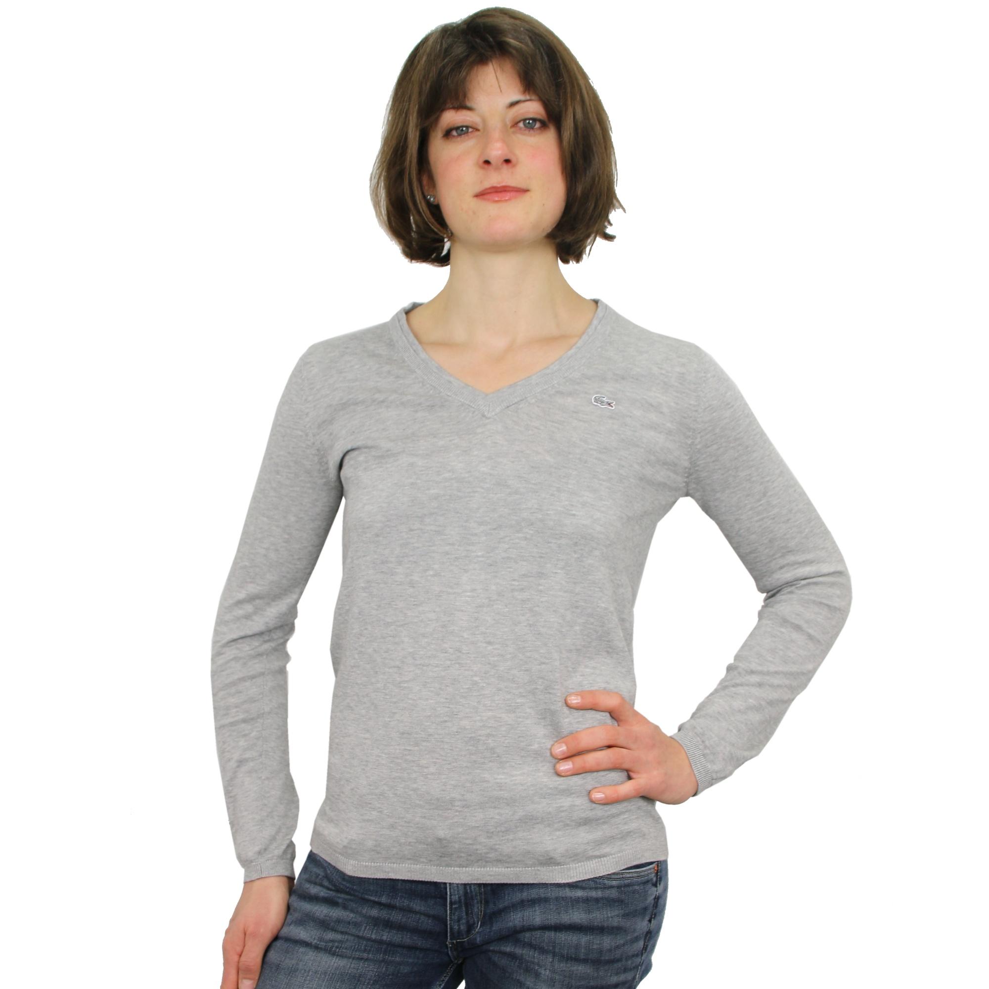 lacoste sweater pullover v ausschnitt damen ebay. Black Bedroom Furniture Sets. Home Design Ideas