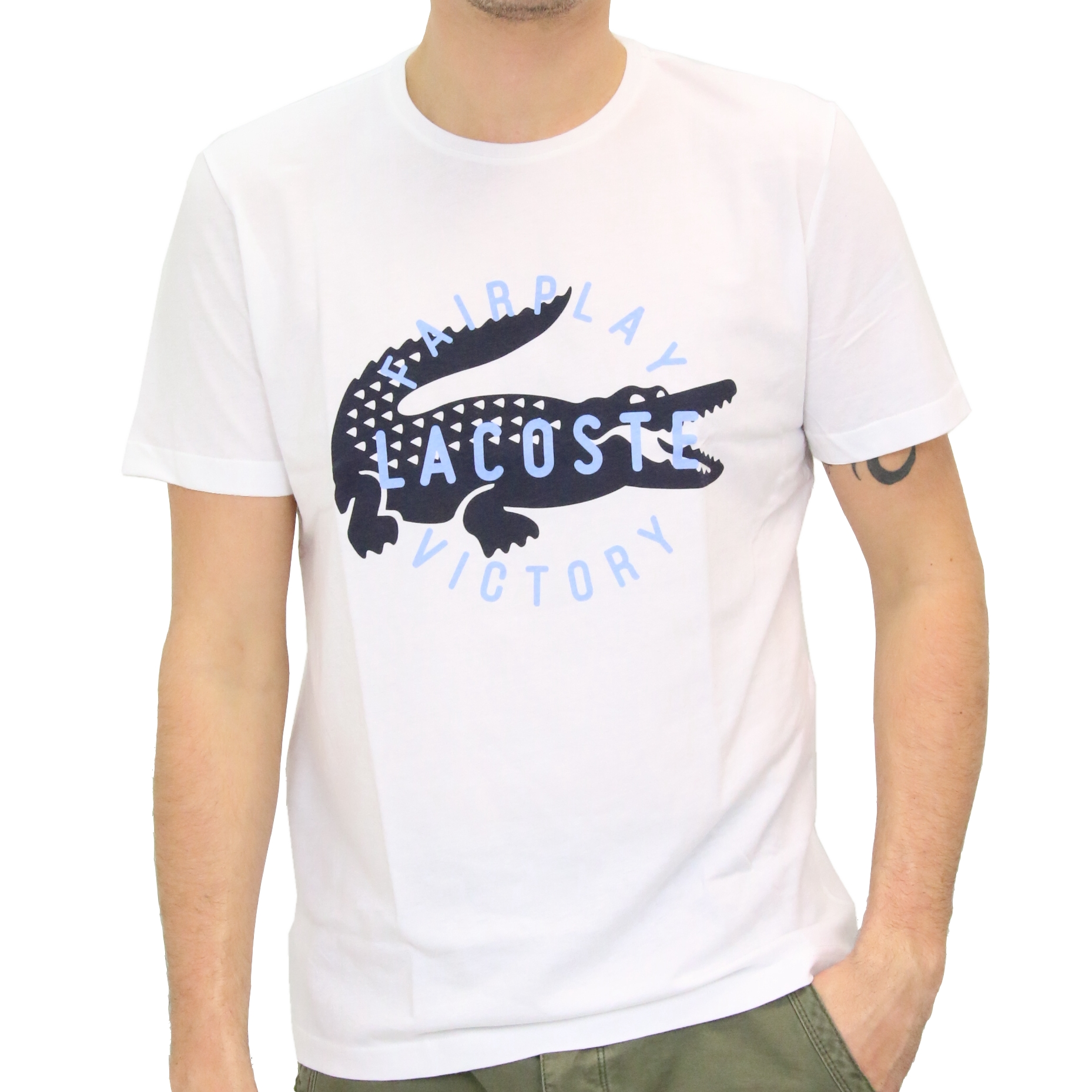 lacoste fairplay t shirt kurzarm herren ebay. Black Bedroom Furniture Sets. Home Design Ideas