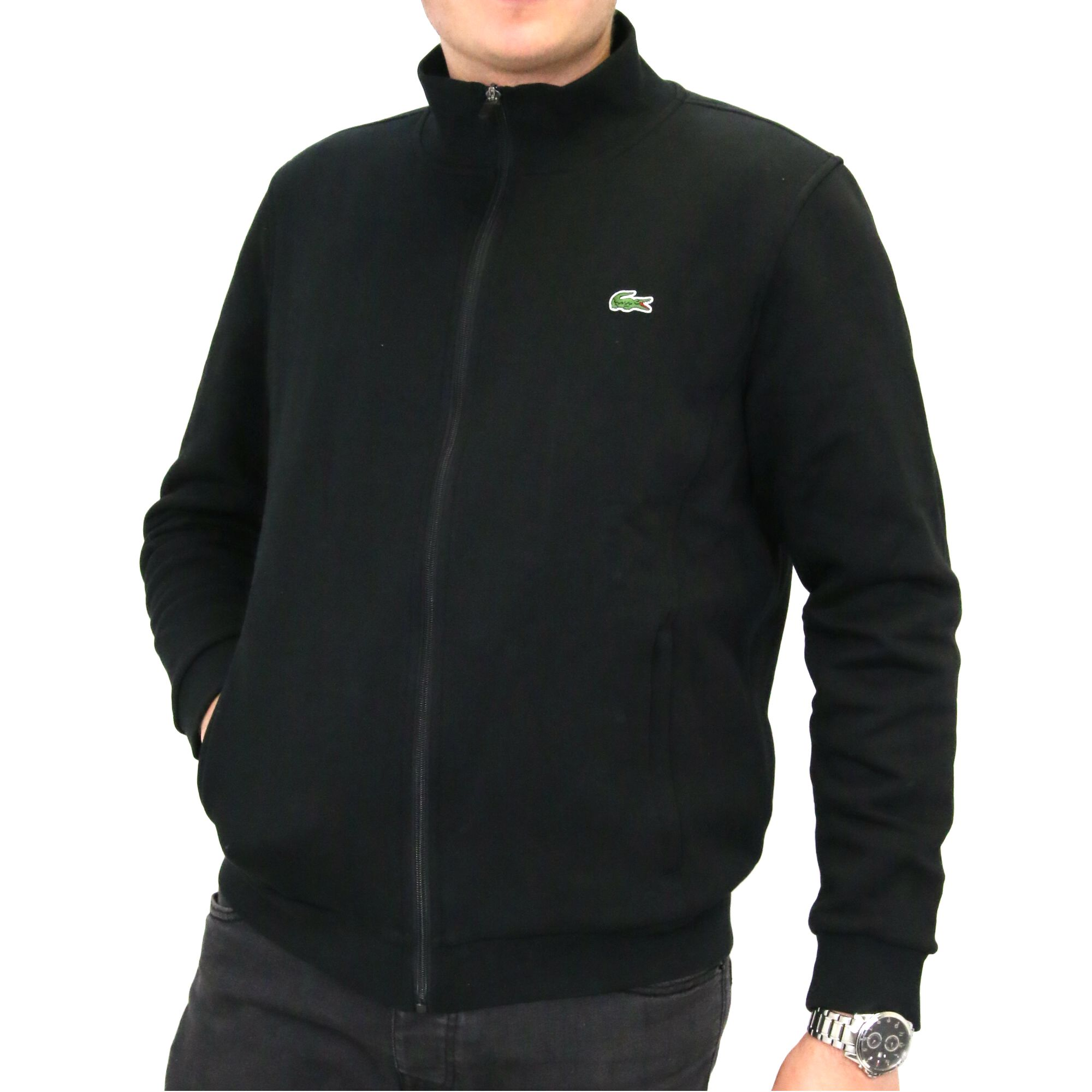 lacoste full zip fleece sweatshirt men 39 s pullover jumper. Black Bedroom Furniture Sets. Home Design Ideas