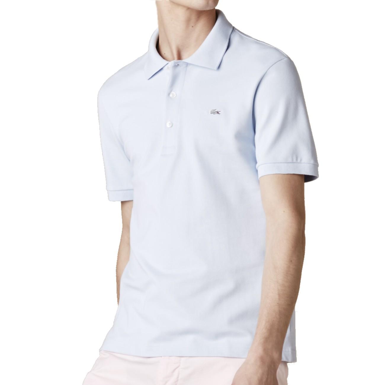 Lacoste stretch polo men 39 s shirt top polo shirt t shirt for Lacoste polo shirts ebay
