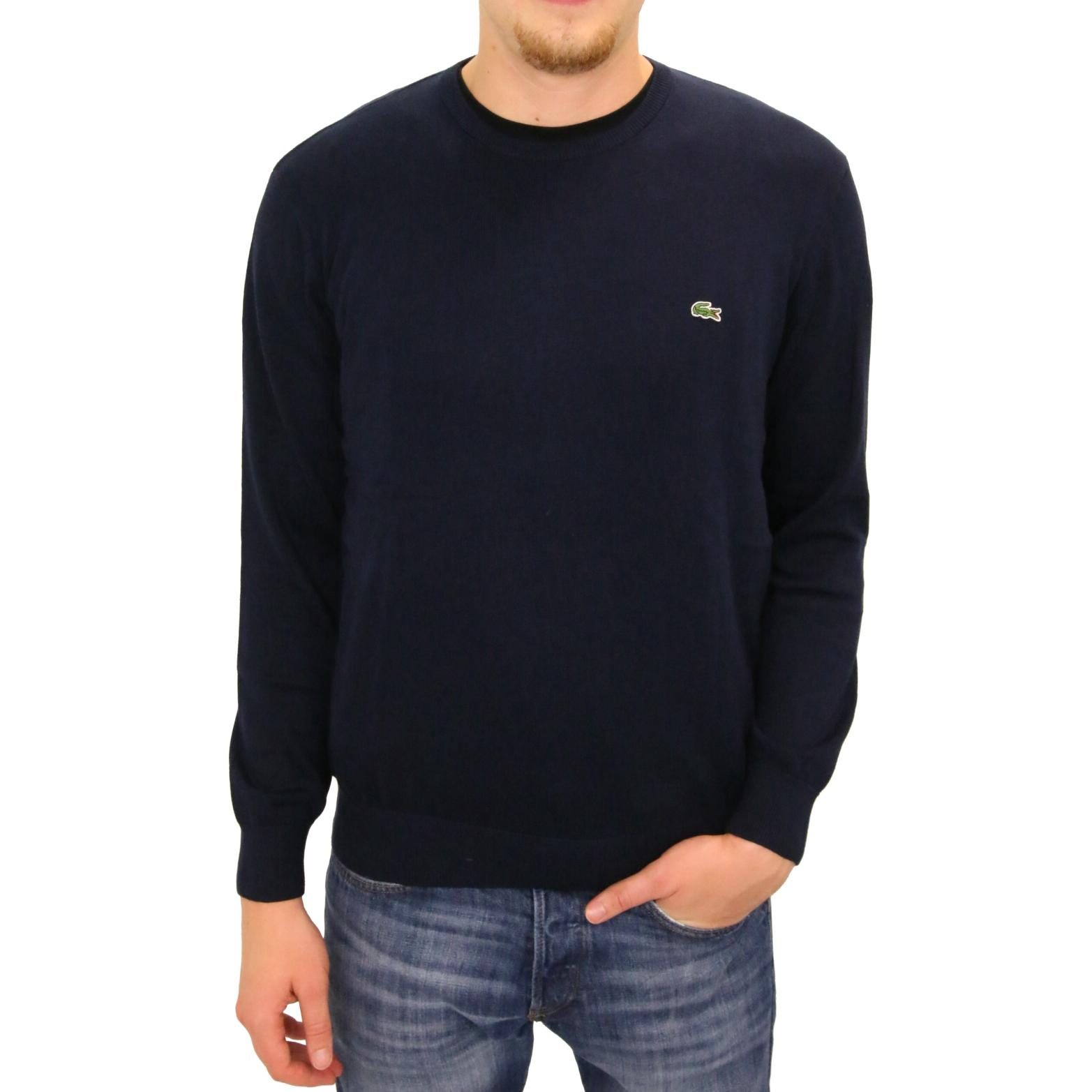 lacoste pullover strickpullover rundhals baumwolle herren diverse farben ebay. Black Bedroom Furniture Sets. Home Design Ideas