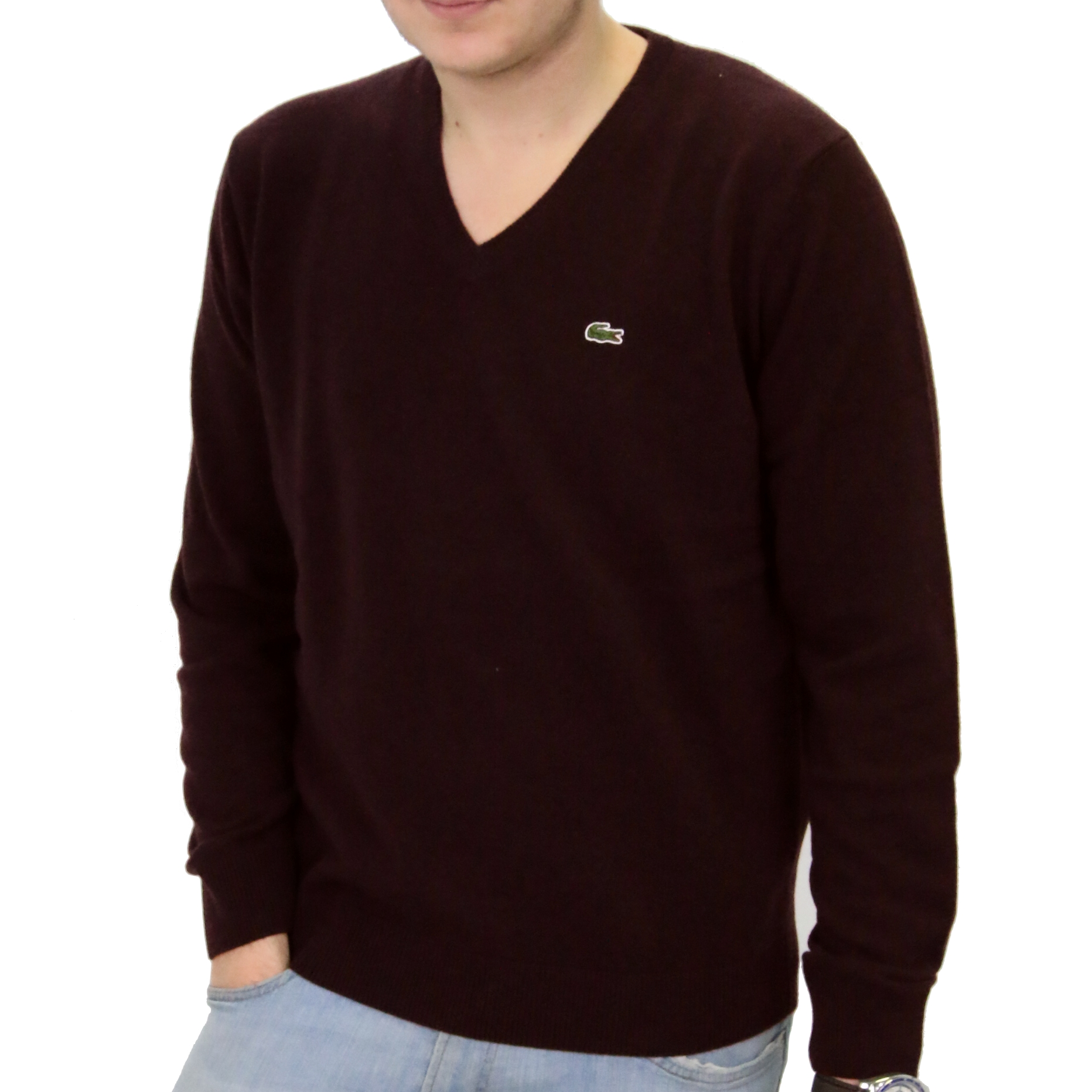 lacoste pullover wollpullover strickpullover v ausschnitt wolle herren ebay. Black Bedroom Furniture Sets. Home Design Ideas