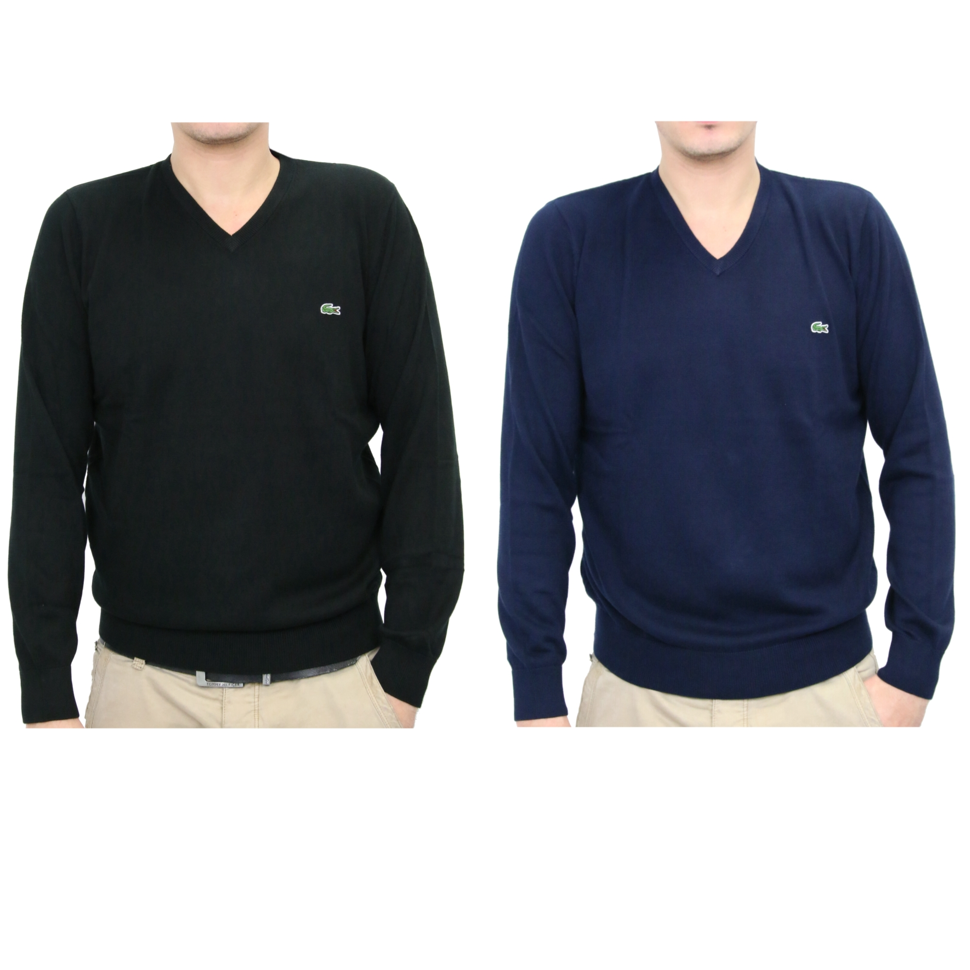 lacoste pullover strickpullover v ausschnitt baumwolle. Black Bedroom Furniture Sets. Home Design Ideas