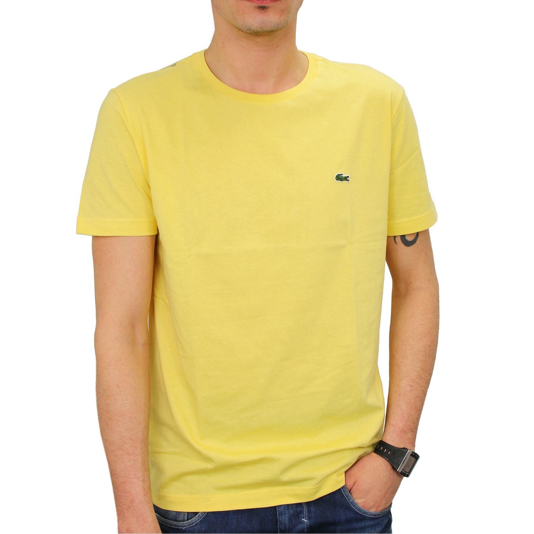 lacoste men 039 s round neck t shirt shirt short sleeve black dk grey. Black Bedroom Furniture Sets. Home Design Ideas