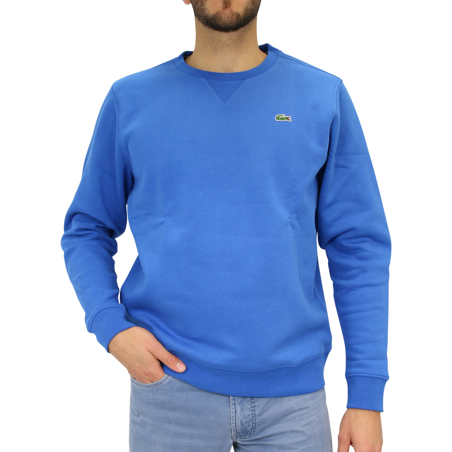 lacoste sport sweatshirt pullover rundhals blau sh7613 skg. Black Bedroom Furniture Sets. Home Design Ideas