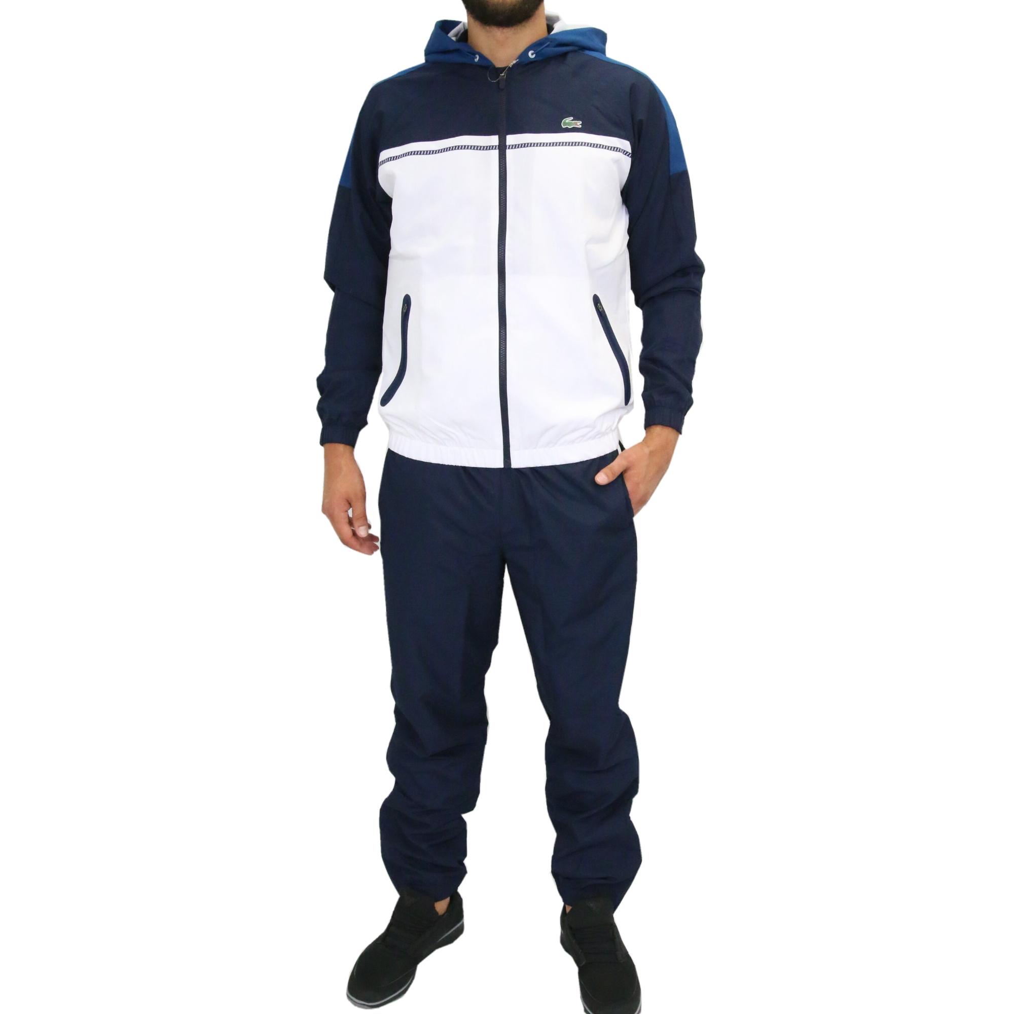 lacoste sport trainingsanzug sportanzug jogginganzug herren blau wh9161 ula ebay. Black Bedroom Furniture Sets. Home Design Ideas