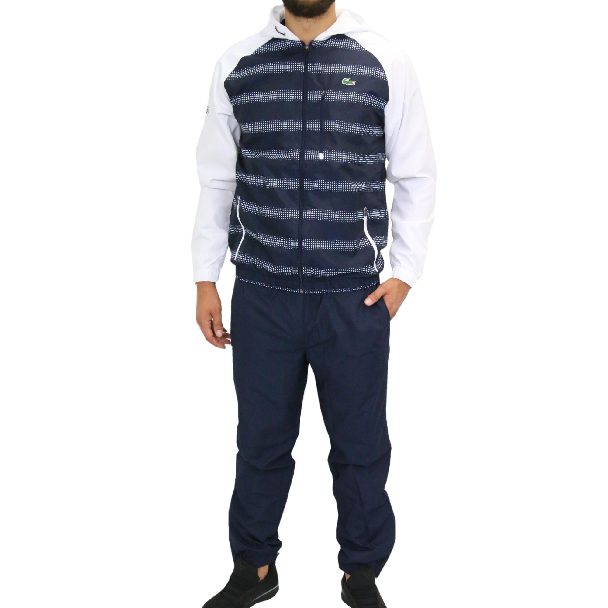 lacoste sport trainingsanzug sportanzug jogginganzug herren blau wh5525 r20 ebay. Black Bedroom Furniture Sets. Home Design Ideas