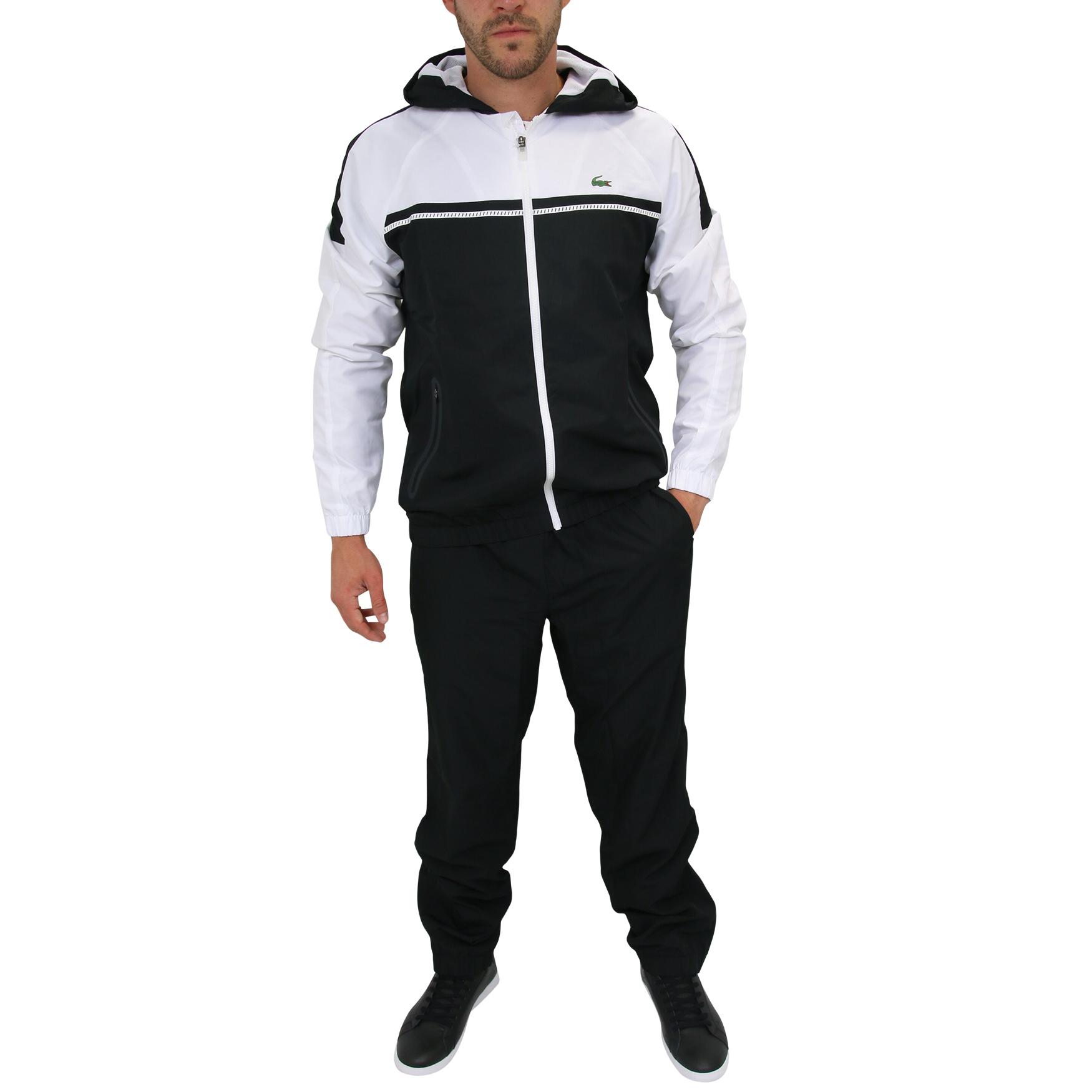 lacoste sport trainingsanzug sportanzug jogginganzug tennis herren schwarz ebay. Black Bedroom Furniture Sets. Home Design Ideas