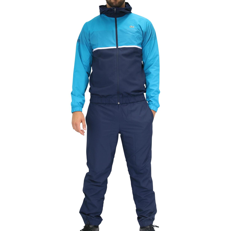 lacoste trainingsanzug sportanzug jogginganzug fitness herren blau wh2092 w0n ebay. Black Bedroom Furniture Sets. Home Design Ideas