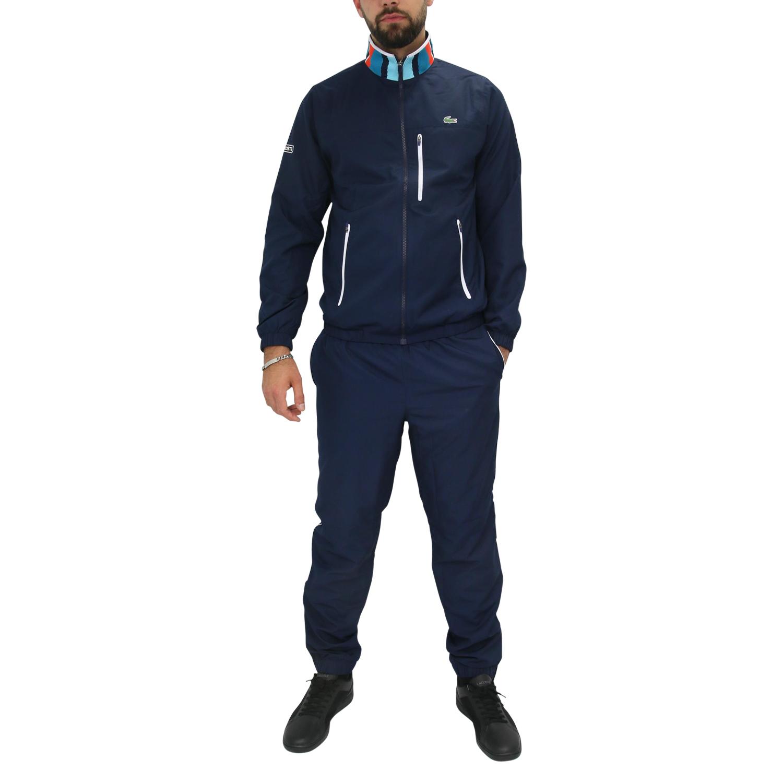 lacoste herren trainingsanzug jacke hose sportanzug dunkelblau ebay. Black Bedroom Furniture Sets. Home Design Ideas