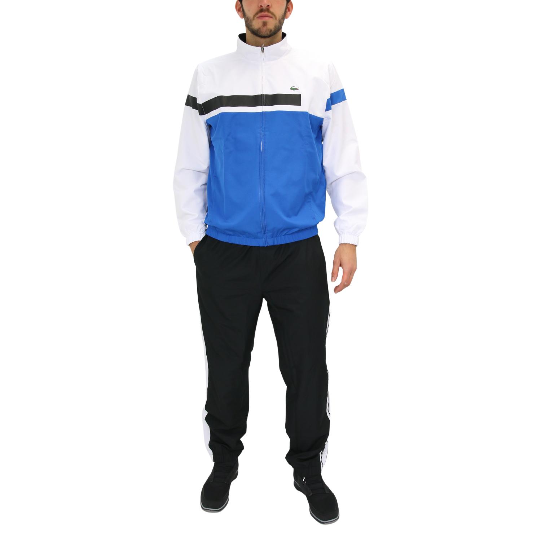 lacoste sport trainingsanzug jogginganzug tennis fitness herren blau wei ebay. Black Bedroom Furniture Sets. Home Design Ideas