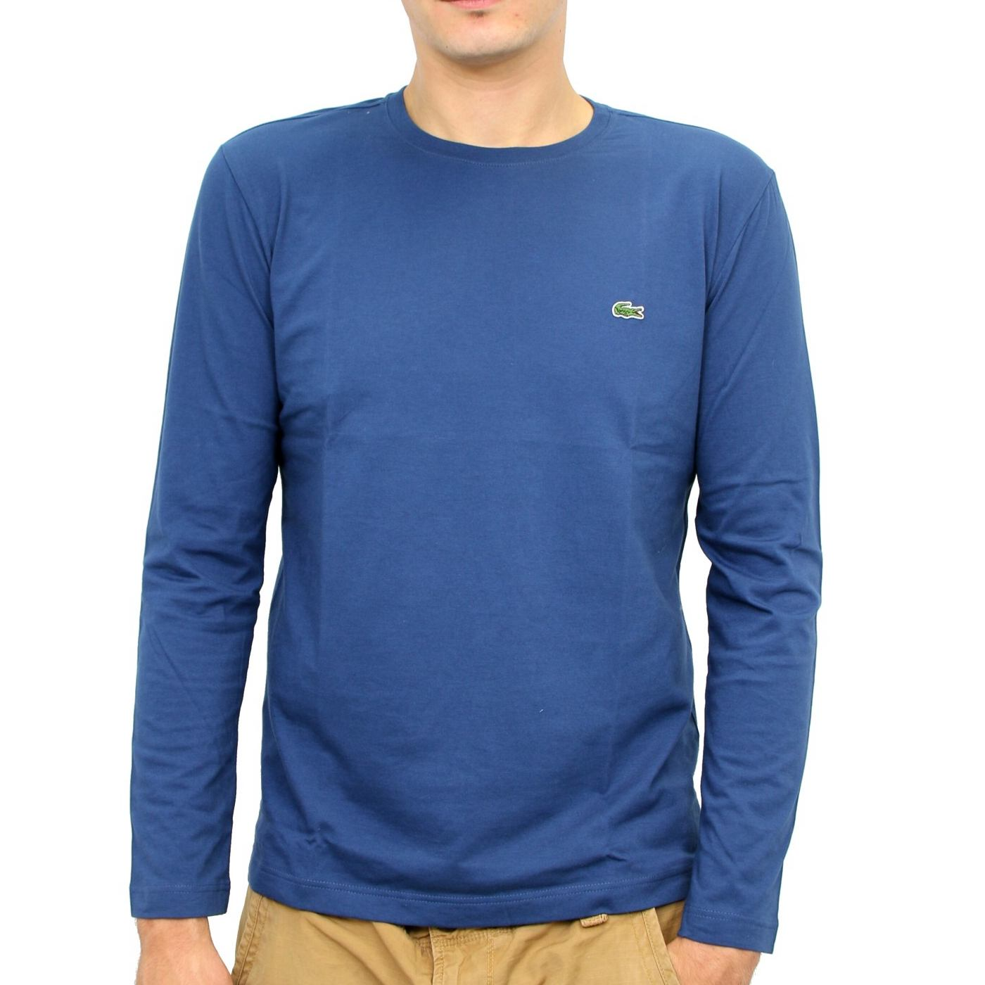 lacoste t shirt longsleeve pullover men 39 s various colors ebay. Black Bedroom Furniture Sets. Home Design Ideas