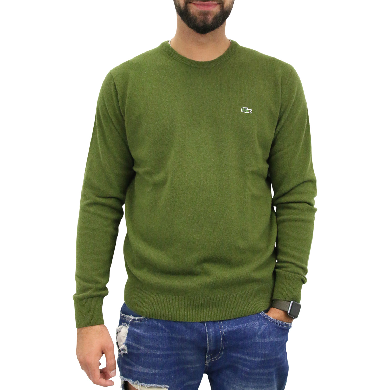 lacoste men 39 s crew neck wool sweater jumper men 39 s ebay. Black Bedroom Furniture Sets. Home Design Ideas