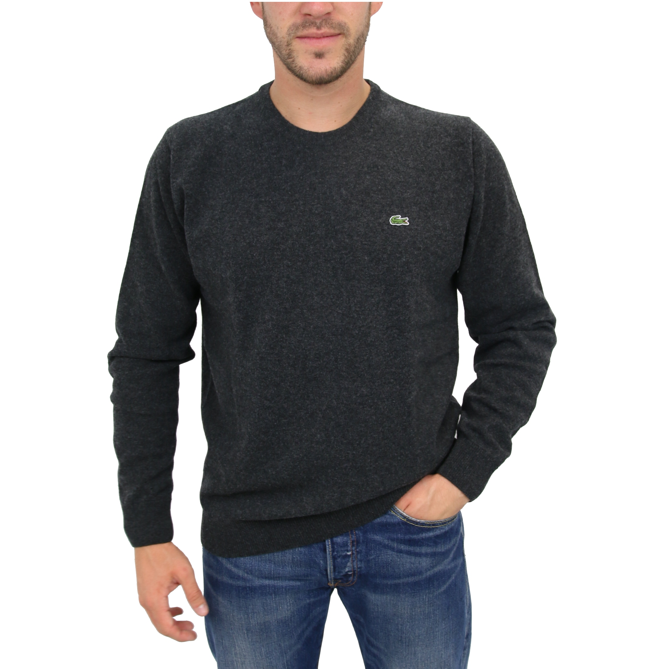 lacoste wollpullover pullover strickpullover rundhals. Black Bedroom Furniture Sets. Home Design Ideas