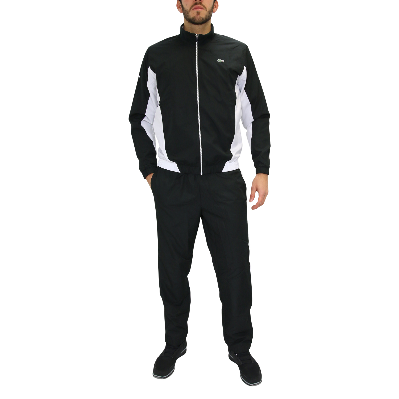 lacoste sport trainingsanzug jogginganzug tennis fitness herren schwarz wei ebay. Black Bedroom Furniture Sets. Home Design Ideas