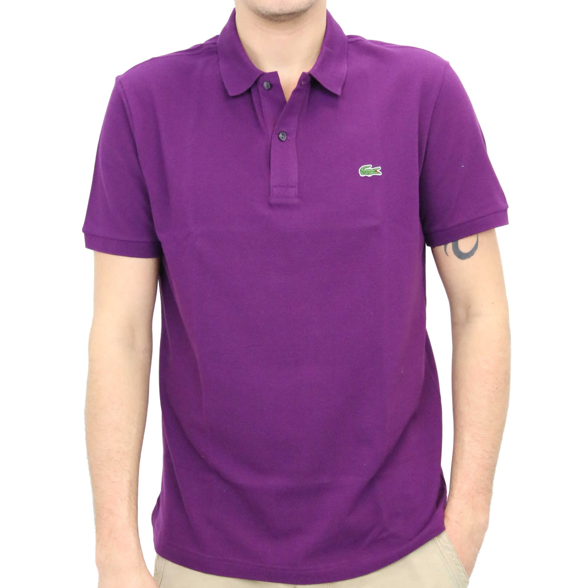 Lacoste slim fit polo shirt men 39 s ph4012 ebay for Lacoste polo shirts ebay