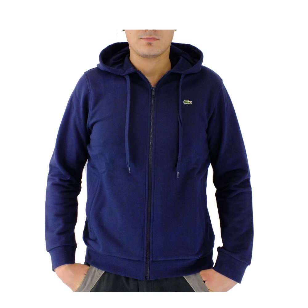 lacoste kapuzenpulli pullover sweatshirtjacke herren blau. Black Bedroom Furniture Sets. Home Design Ideas