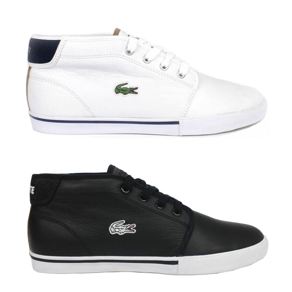 lacoste ampthill shoes sneaker loafers hightop leather