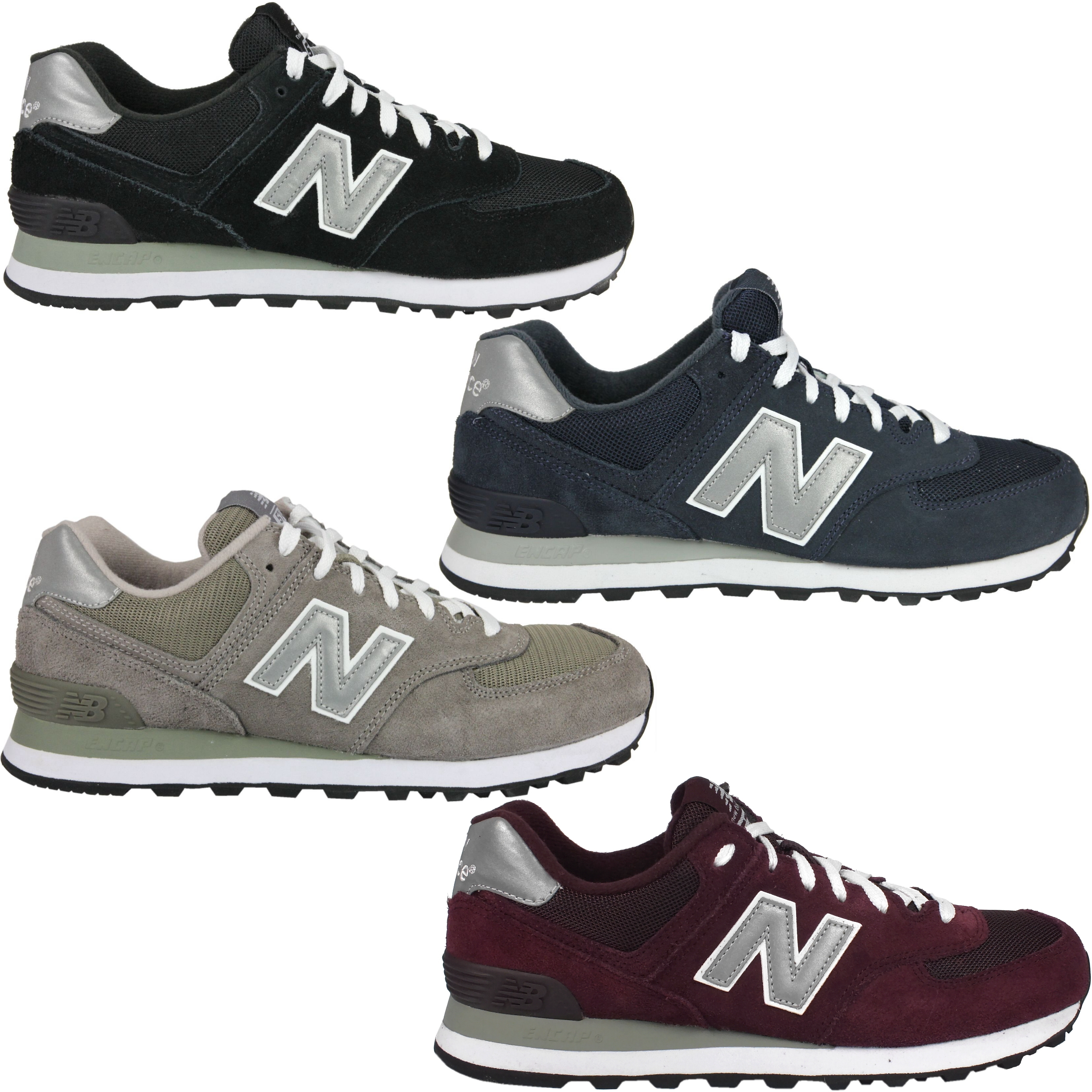 m574 new balance suede men women trainers sneakers black blue gray ebay. Black Bedroom Furniture Sets. Home Design Ideas