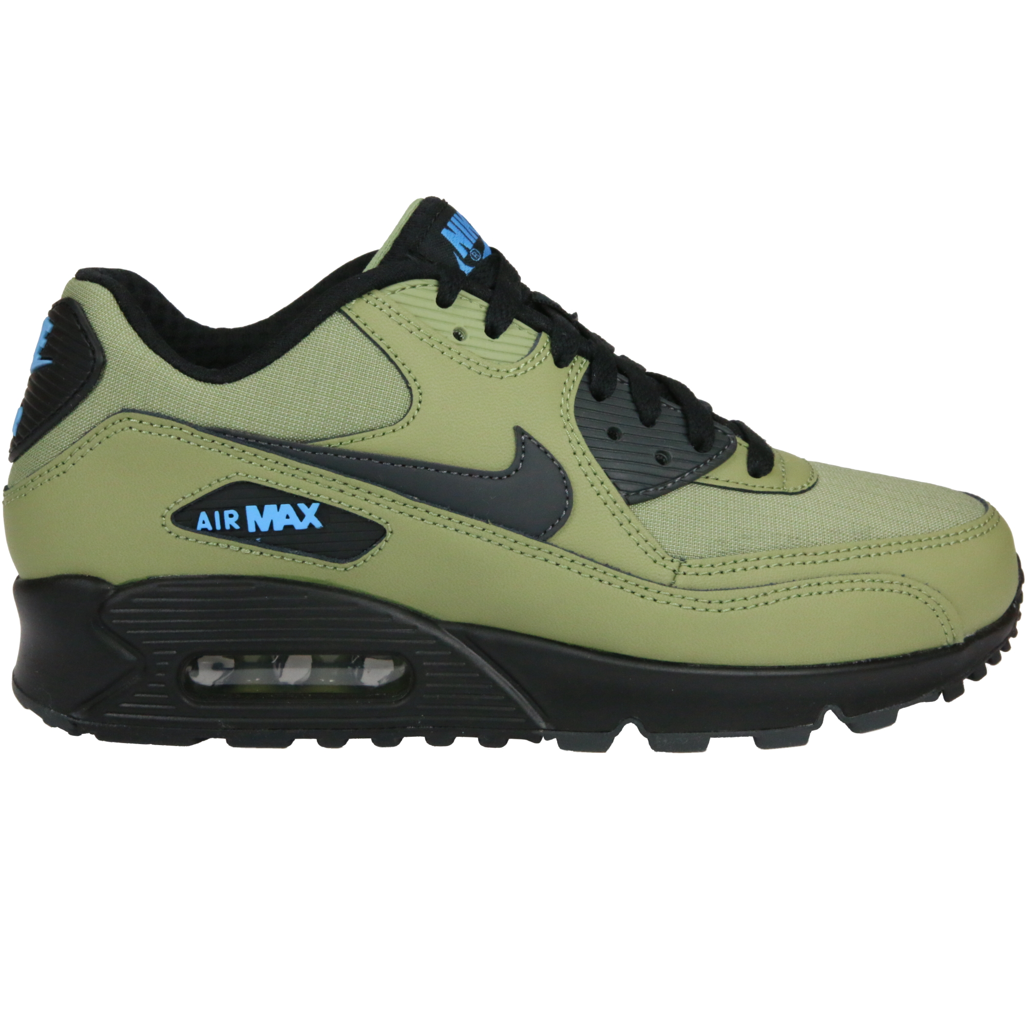 nike air max 90 essential schuhe turnschuhe sneaker herren echtleder grau blau ebay. Black Bedroom Furniture Sets. Home Design Ideas