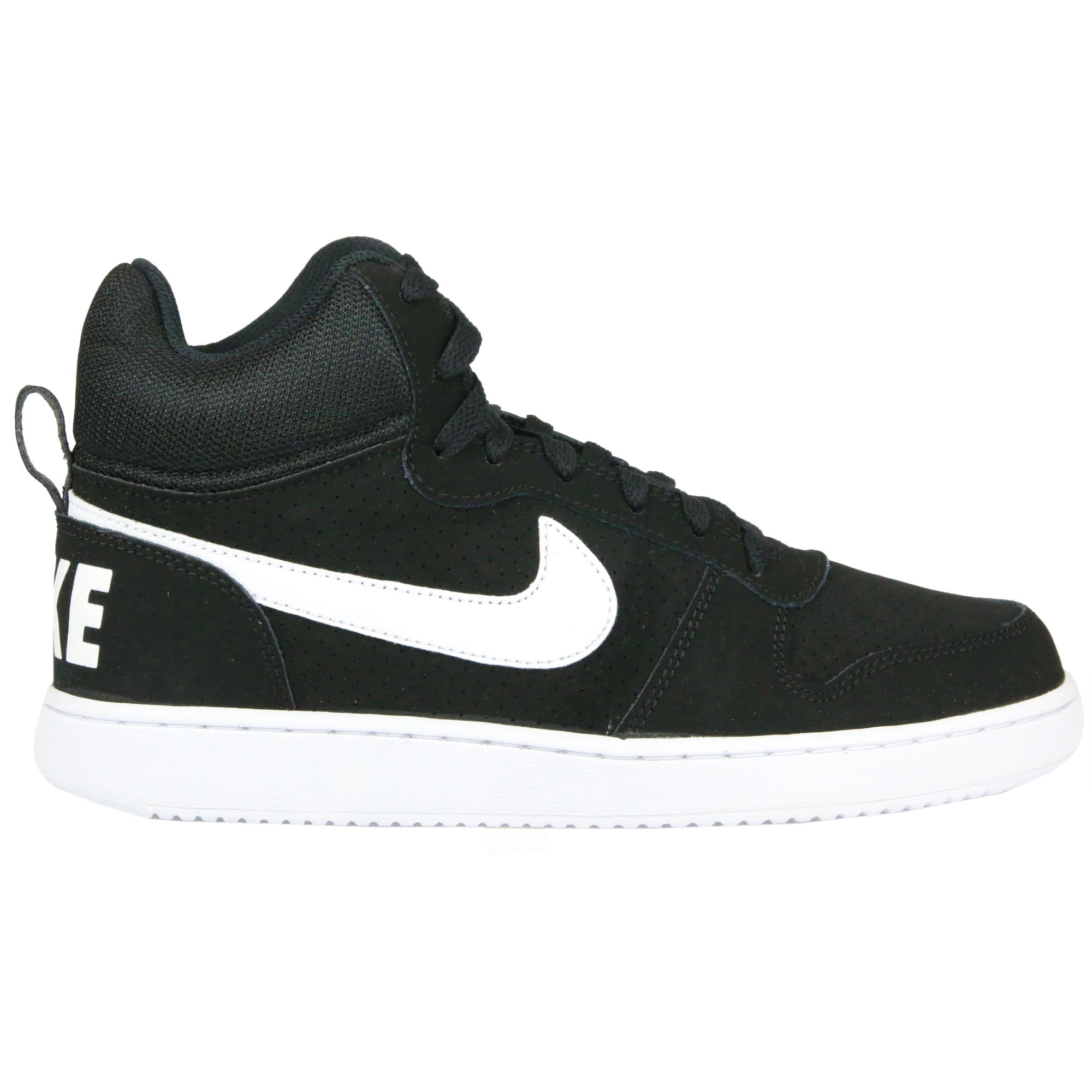 nike court borough mid schuhe turnschuhe sneaker echtleder herren schwarz ebay. Black Bedroom Furniture Sets. Home Design Ideas