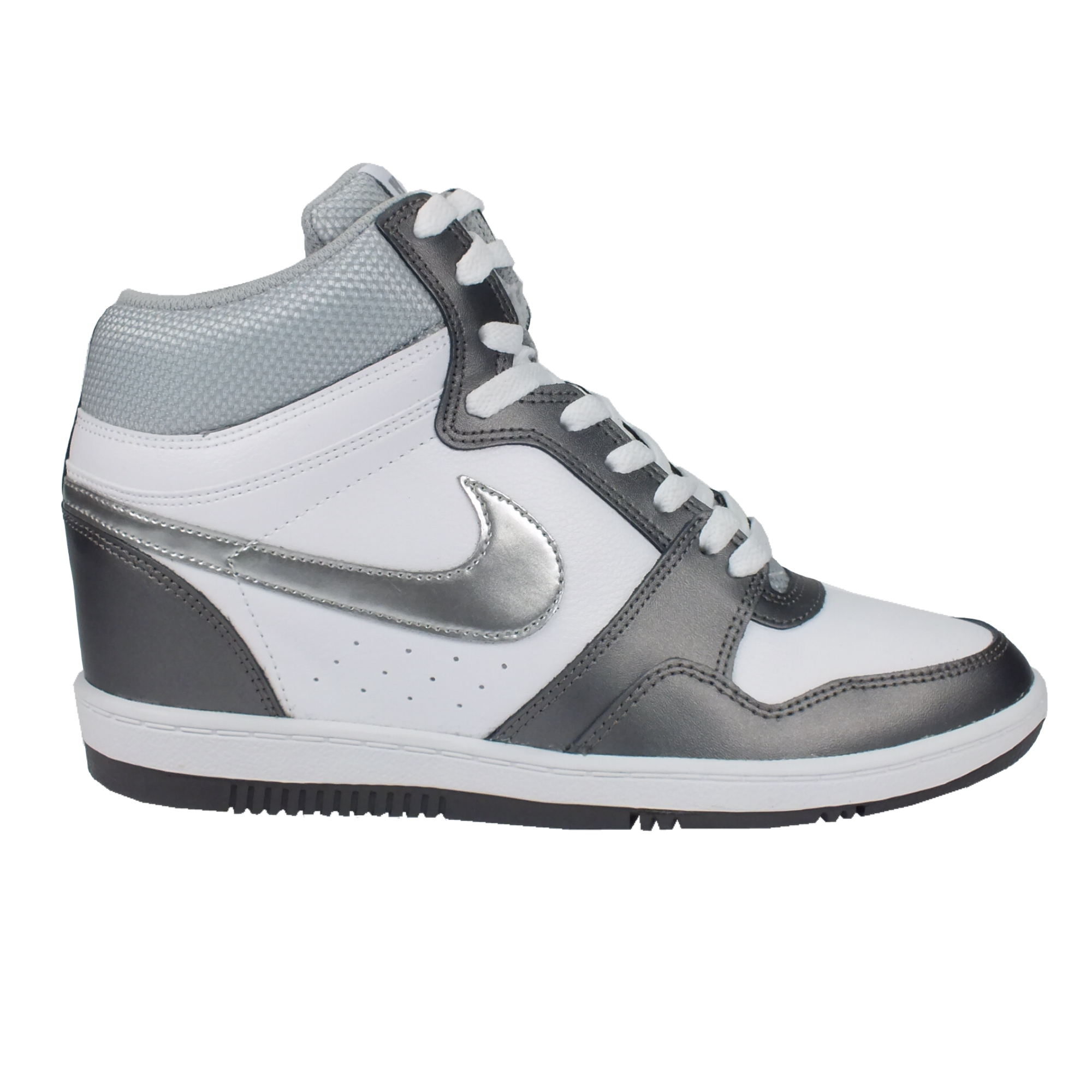 nike force sky hi leather women sneaker with hidden wedge heel various colours ebay. Black Bedroom Furniture Sets. Home Design Ideas