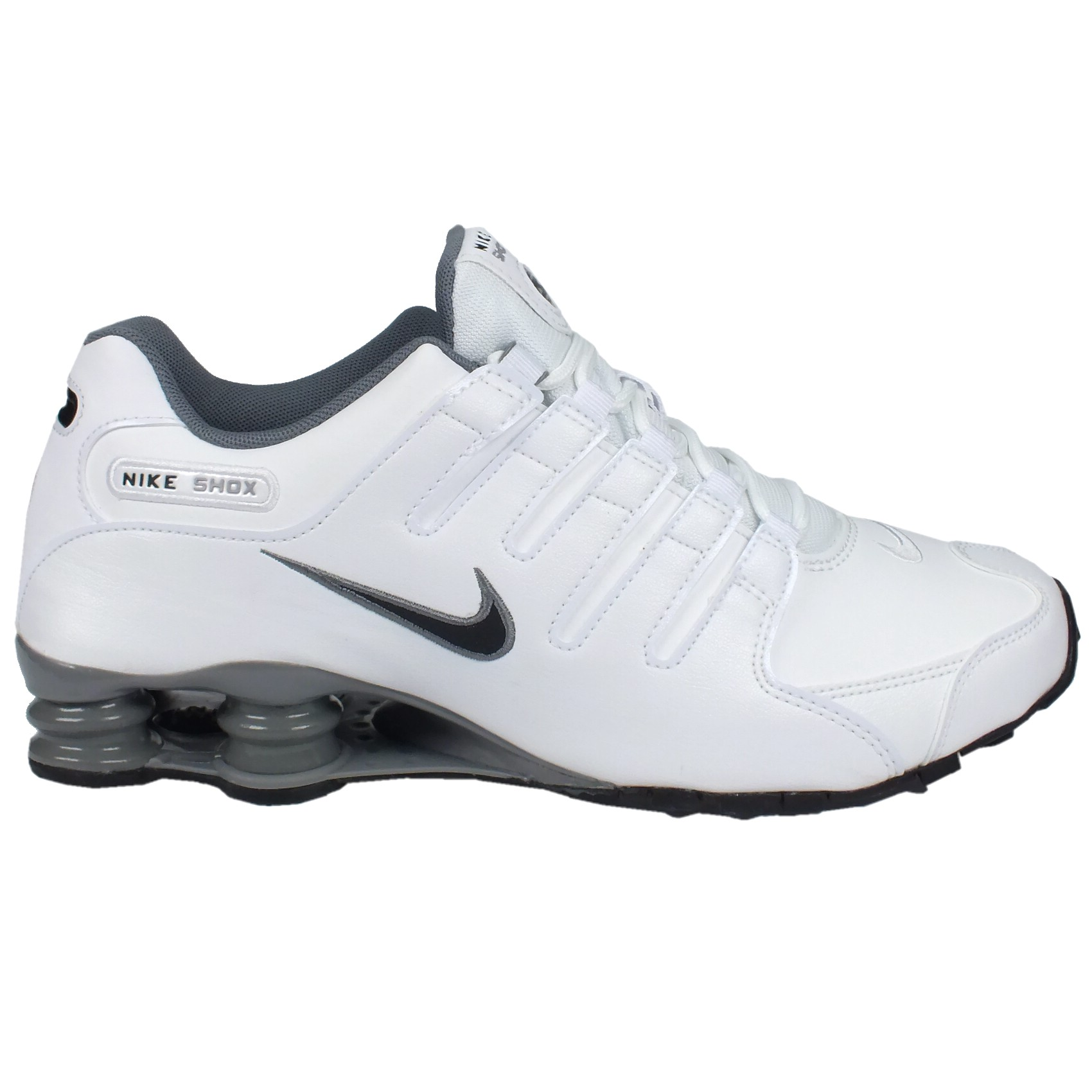 nike shox nz eu herren schuhe sneakers turnschuhe freizeitschuhe wei grau ebay. Black Bedroom Furniture Sets. Home Design Ideas