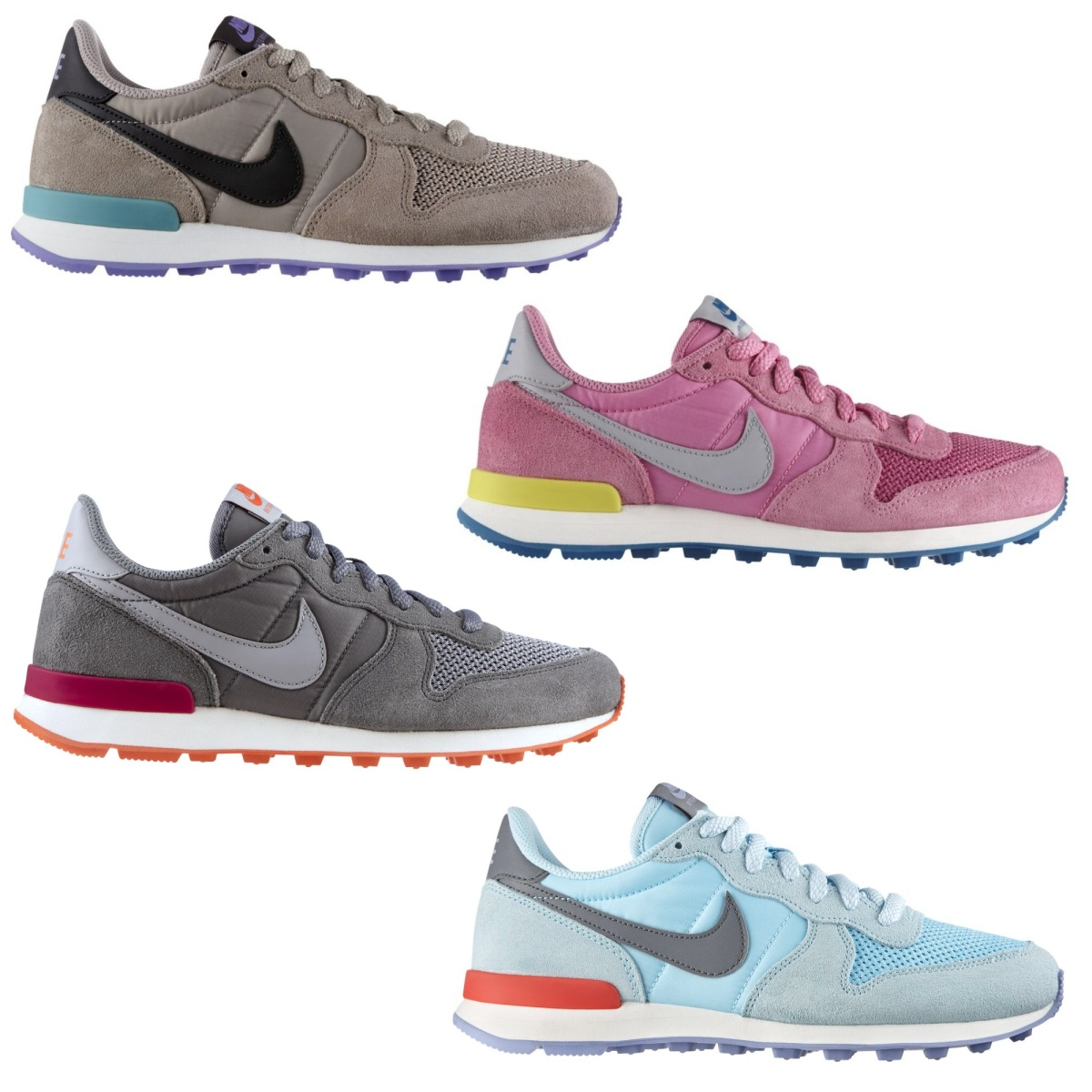 nike internationalist schuhe turnschuhe sneaker damen wildleder diverse farben ebay. Black Bedroom Furniture Sets. Home Design Ideas