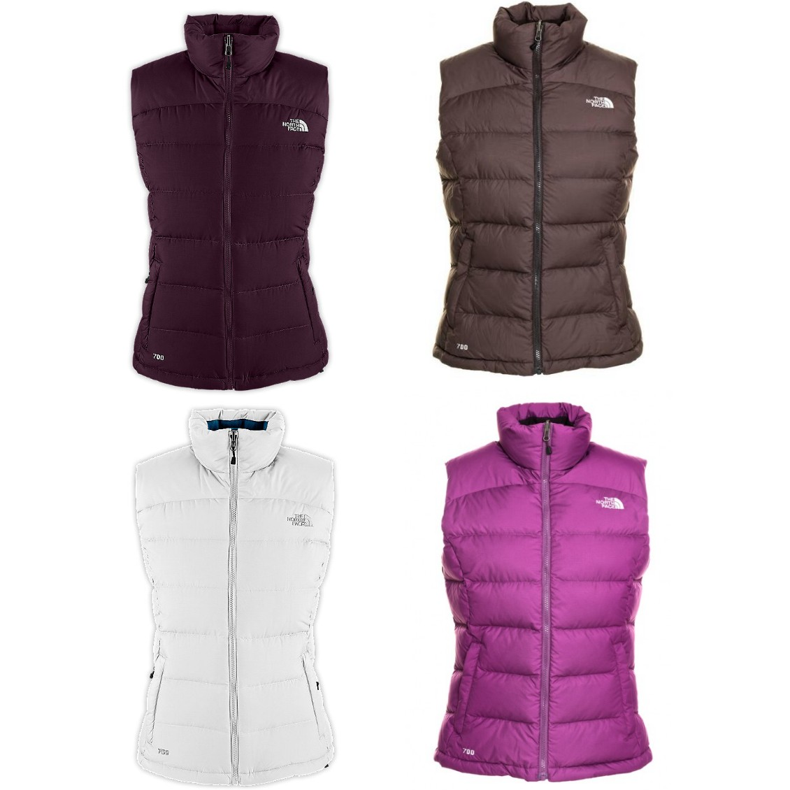 the north face nuptse 2 vest damen weste lila braun ebay. Black Bedroom Furniture Sets. Home Design Ideas
