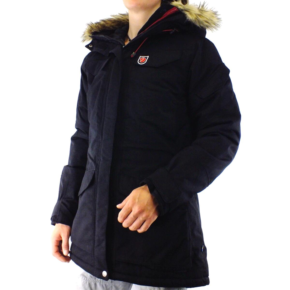 fjallr ven nuuk parka jacke parka winterjacke outdoor damen schwarz winterparka ebay. Black Bedroom Furniture Sets. Home Design Ideas