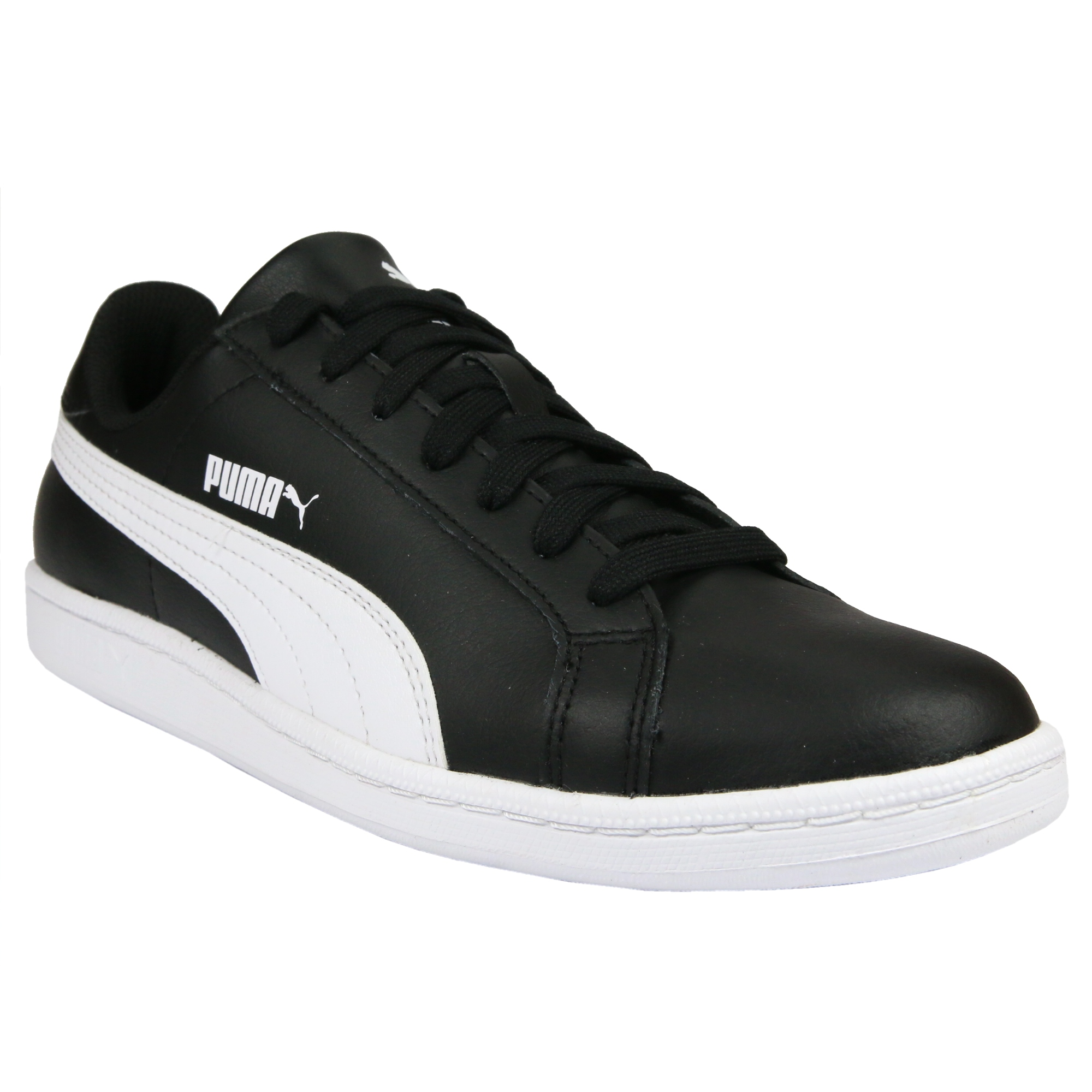 puma smash l schuhe turnschuhe sneaker herren damen wei schwarz ebay. Black Bedroom Furniture Sets. Home Design Ideas