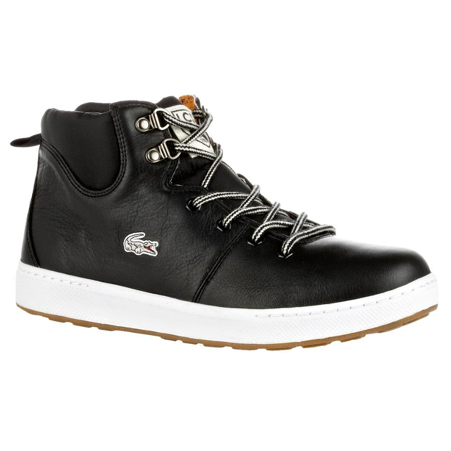 lacoste studland mid cut schuhe herren leder stiefel winterstiefel ebay. Black Bedroom Furniture Sets. Home Design Ideas