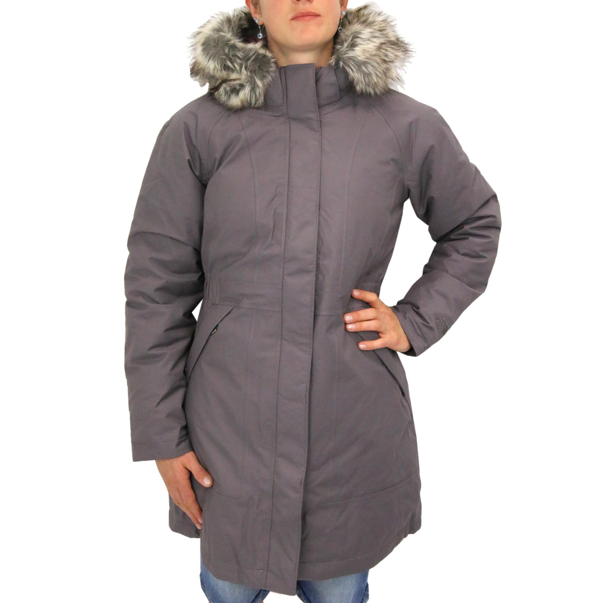 the north face arctic parka mantel wintermantel daunenmantel 550 cuin damen grau ebay. Black Bedroom Furniture Sets. Home Design Ideas