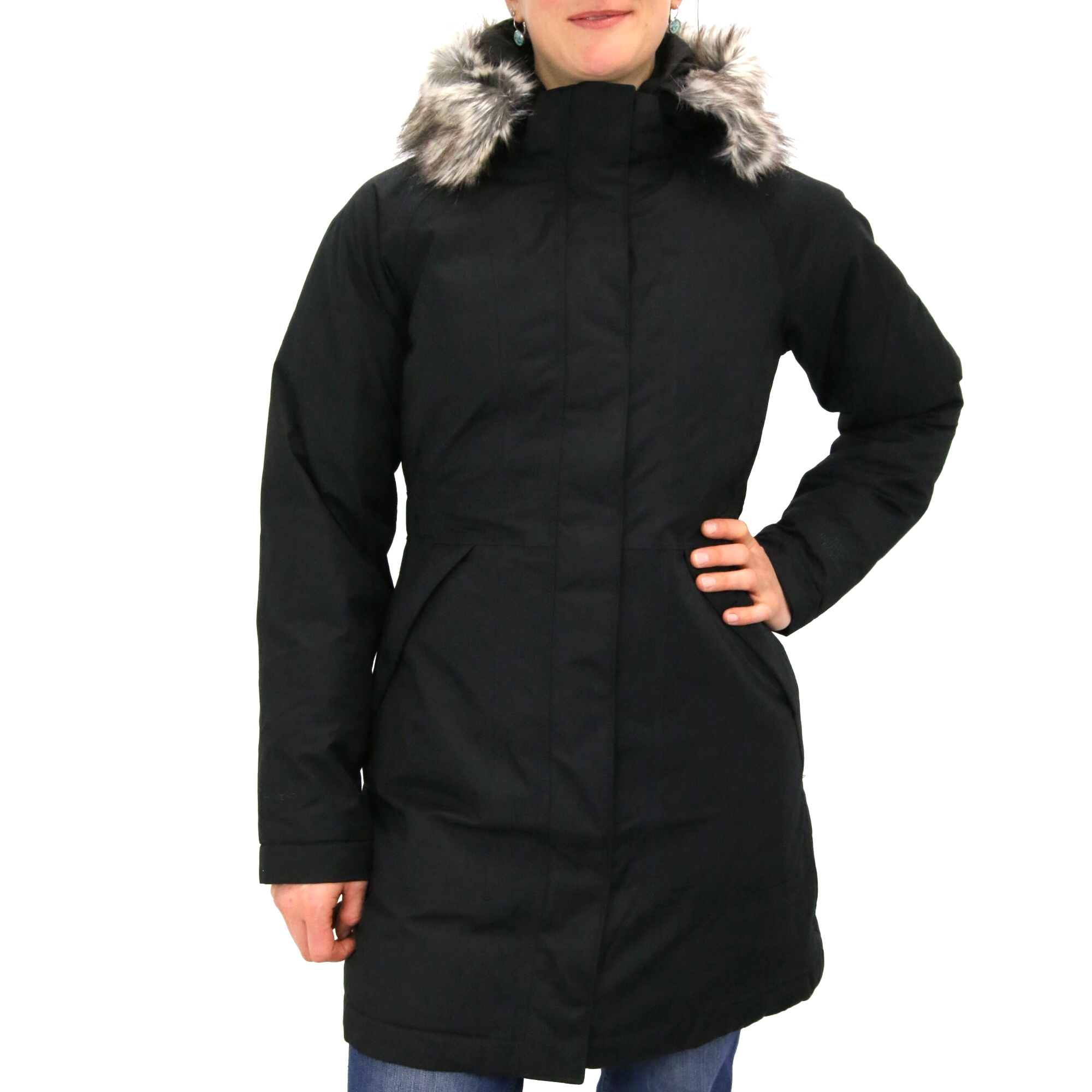 the north face arctic parka jacke mantel wintermantel winterjacke damen schwarz ebay. Black Bedroom Furniture Sets. Home Design Ideas